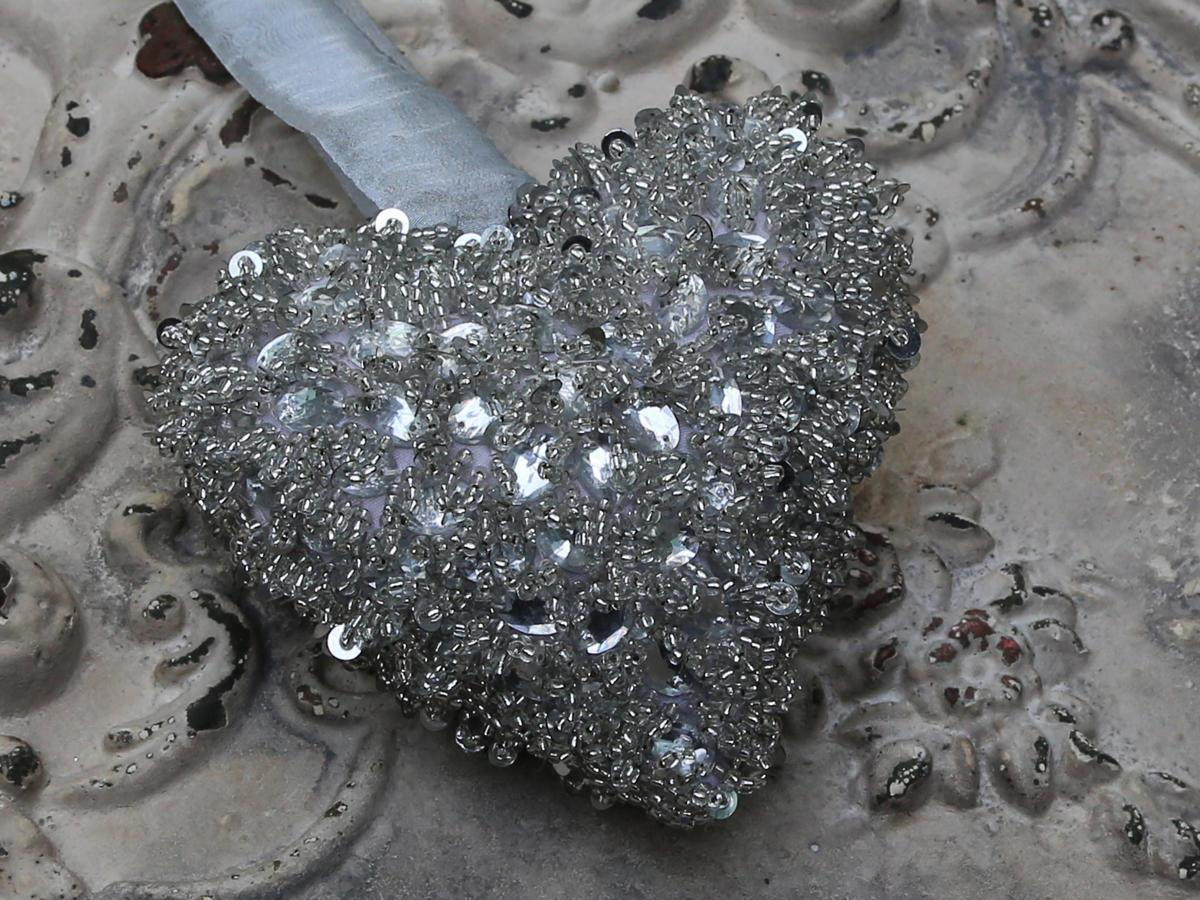 Chic Antique Velké dekorativní srdce Pearl