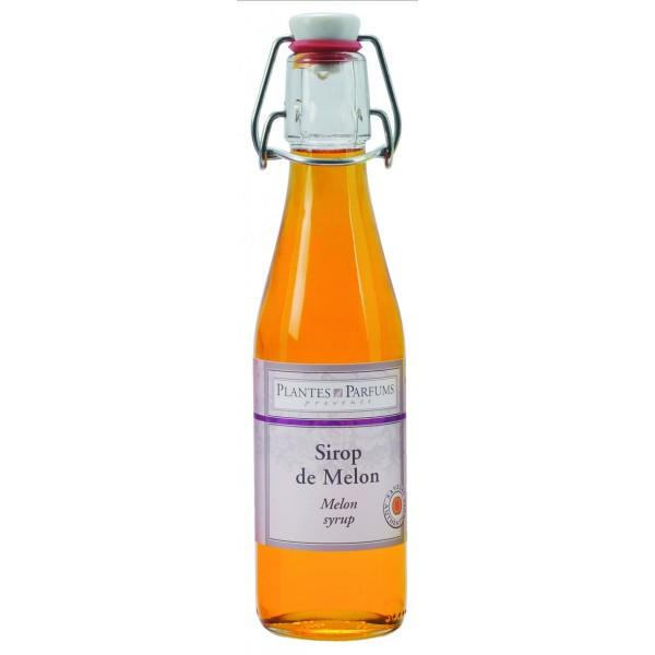 PLANTES ET PARFUMS provence Melounový sirup 500 ml, oranžová barva, sklo