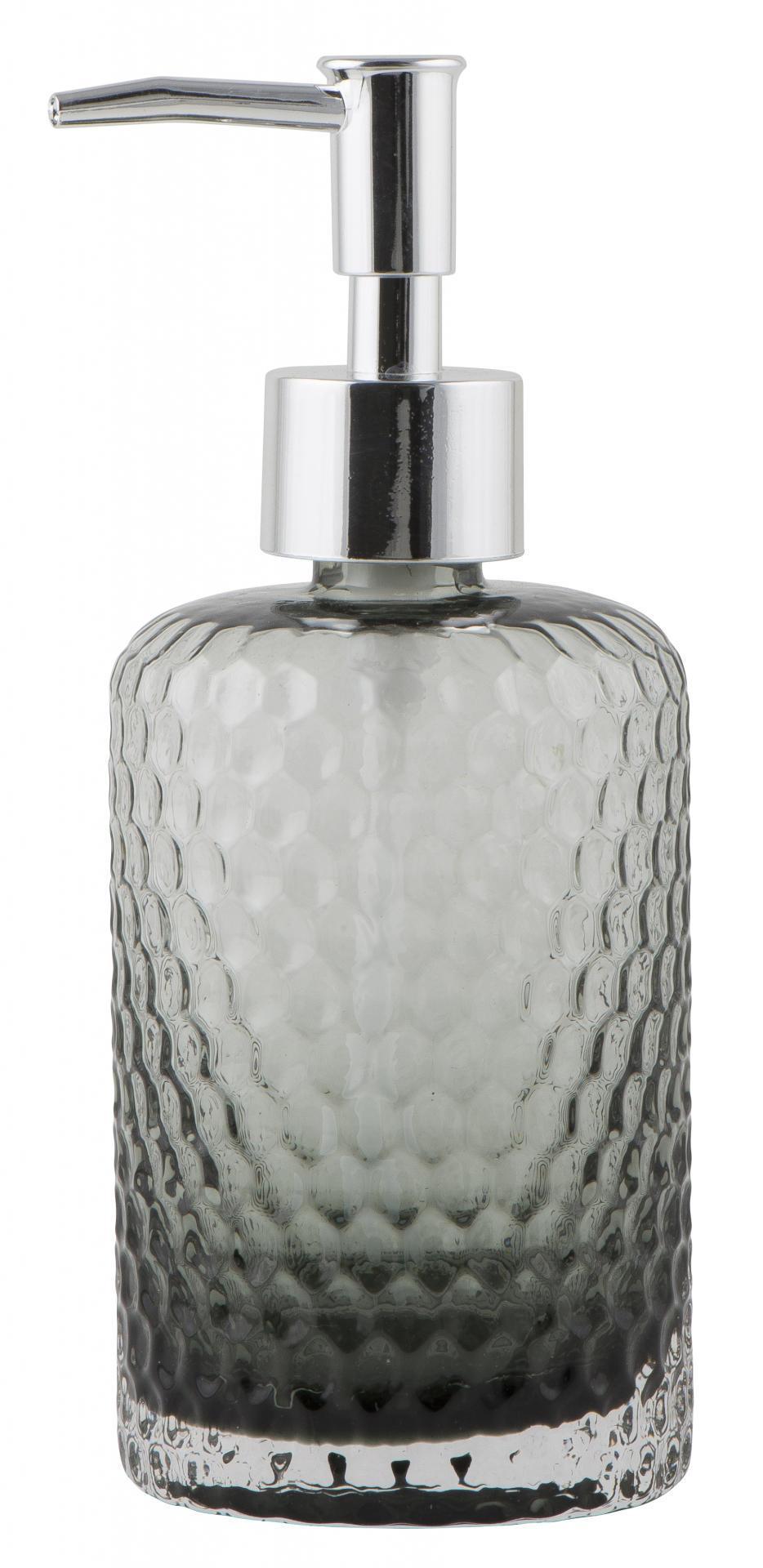 IB LAURSEN Zásobník na mýdlo Grey glass, šedá barva, sklo, plast