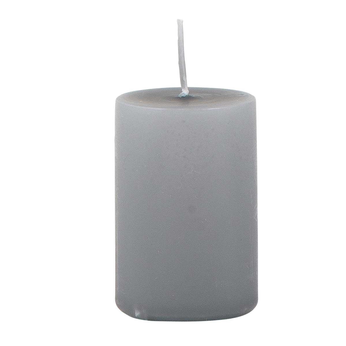 IB LAURSEN Svíčka Dark grey 6 cm, šedá barva, vosk