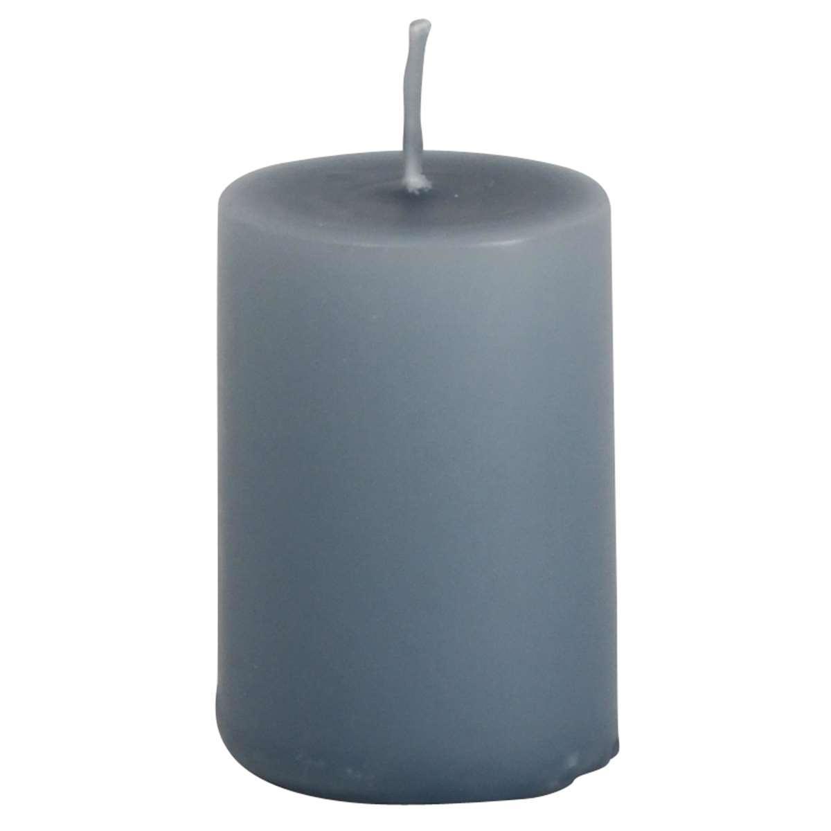 IB LAURSEN Svíčka Pigeon blue 6 cm, modrá barva, vosk