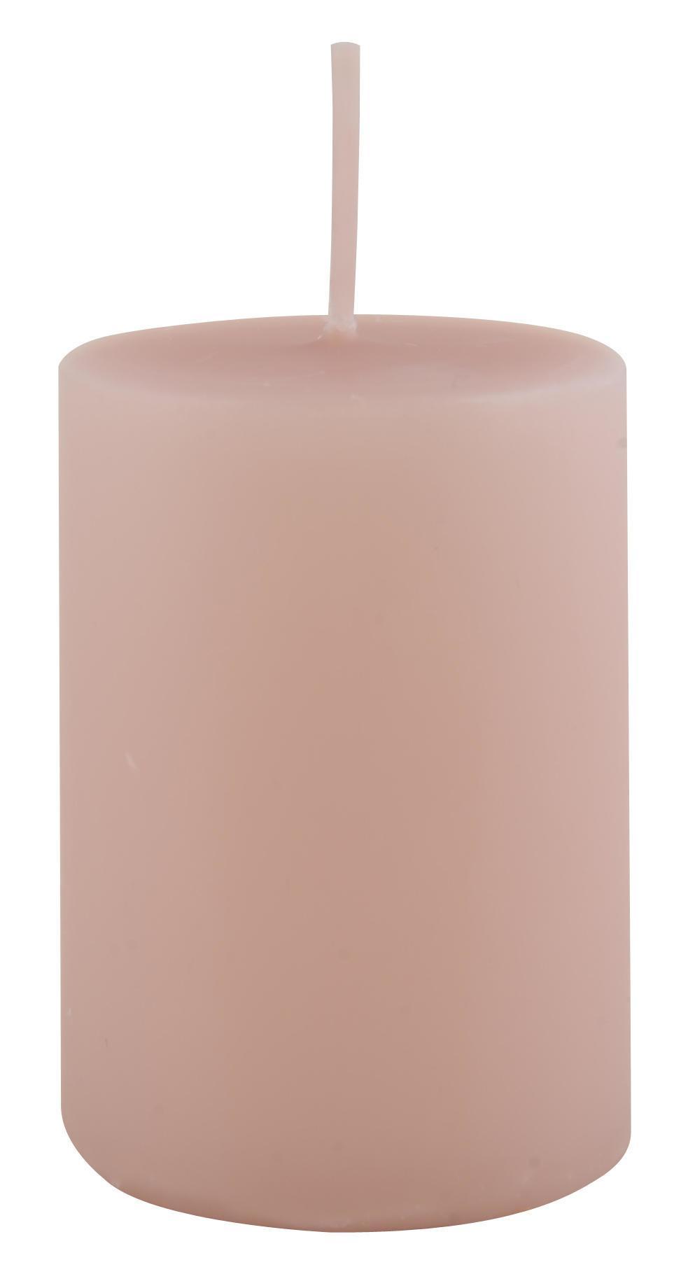 IB LAURSEN Svíčka Rose 6 cm, růžová barva, vosk