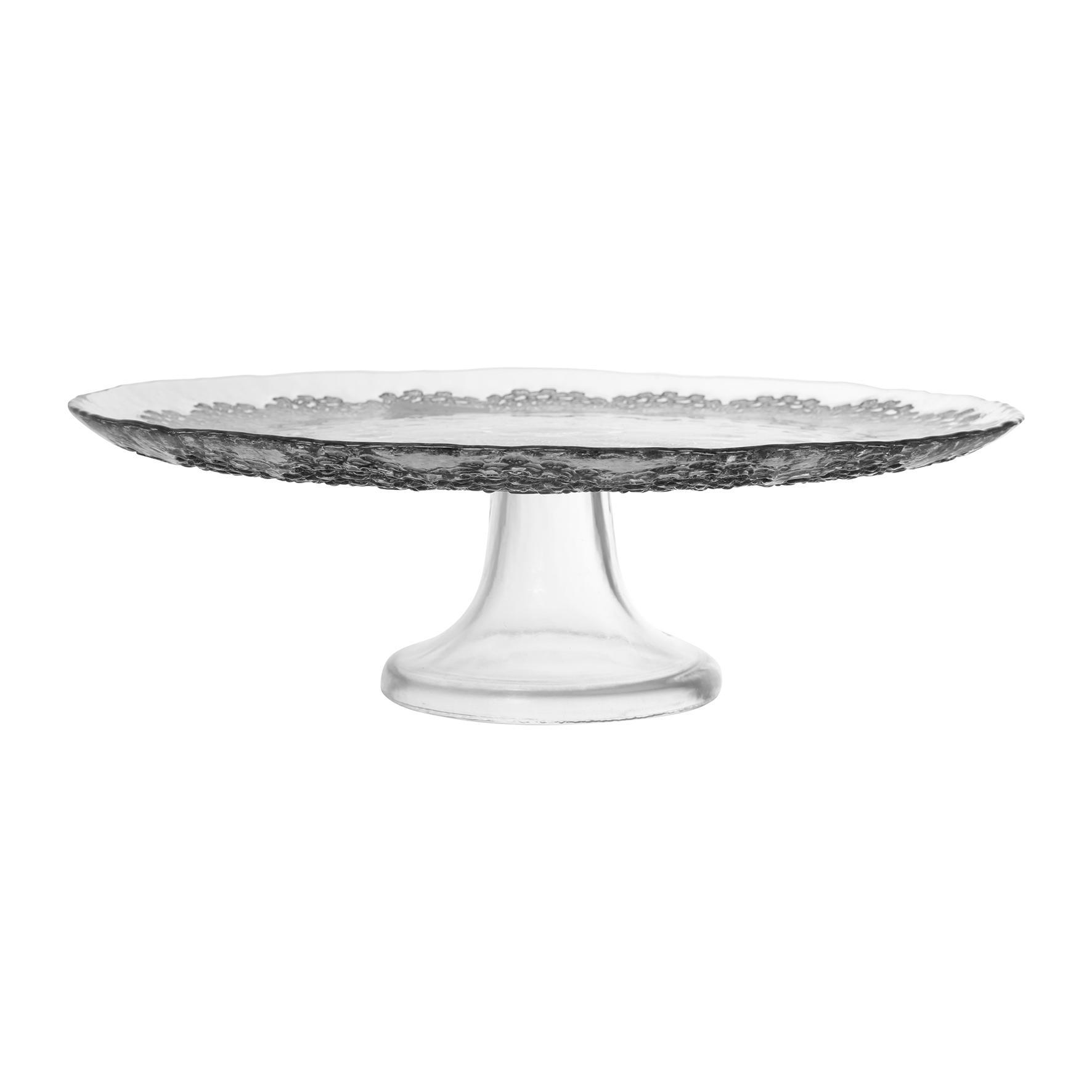 CÔTÉ TABLE Dortový stojan Baroq Fume, šedá barva, sklo