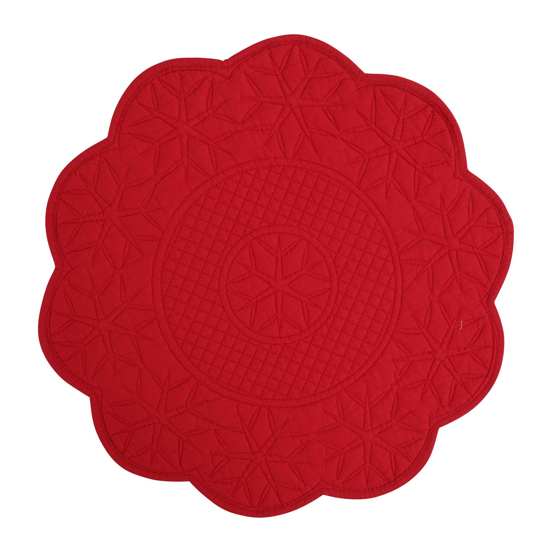 CÔTÉ TABLE Prošívané prostírání Boreale Frambo, červená barva, textil