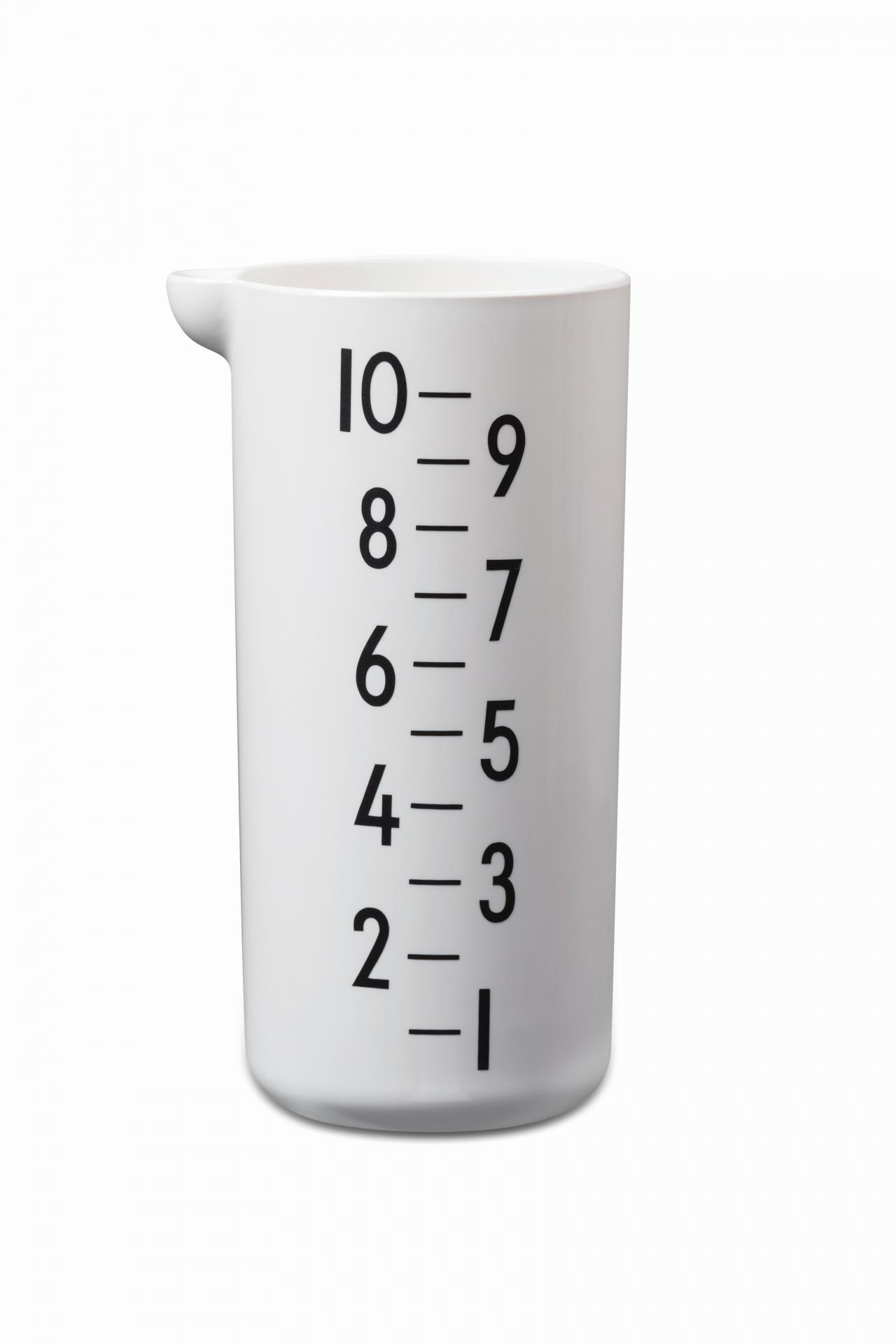 DESIGN LETTERS Melaminový měřicí džbánek Design Letters 1l, černá barva, bílá barva, krémová barva, melamin