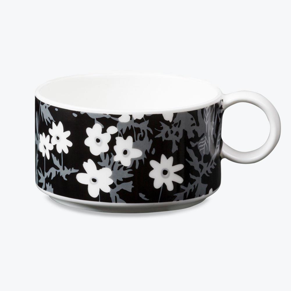 DESIGN LETTERS Porcelánový hrneček Windflower, bílá barva, porcelán