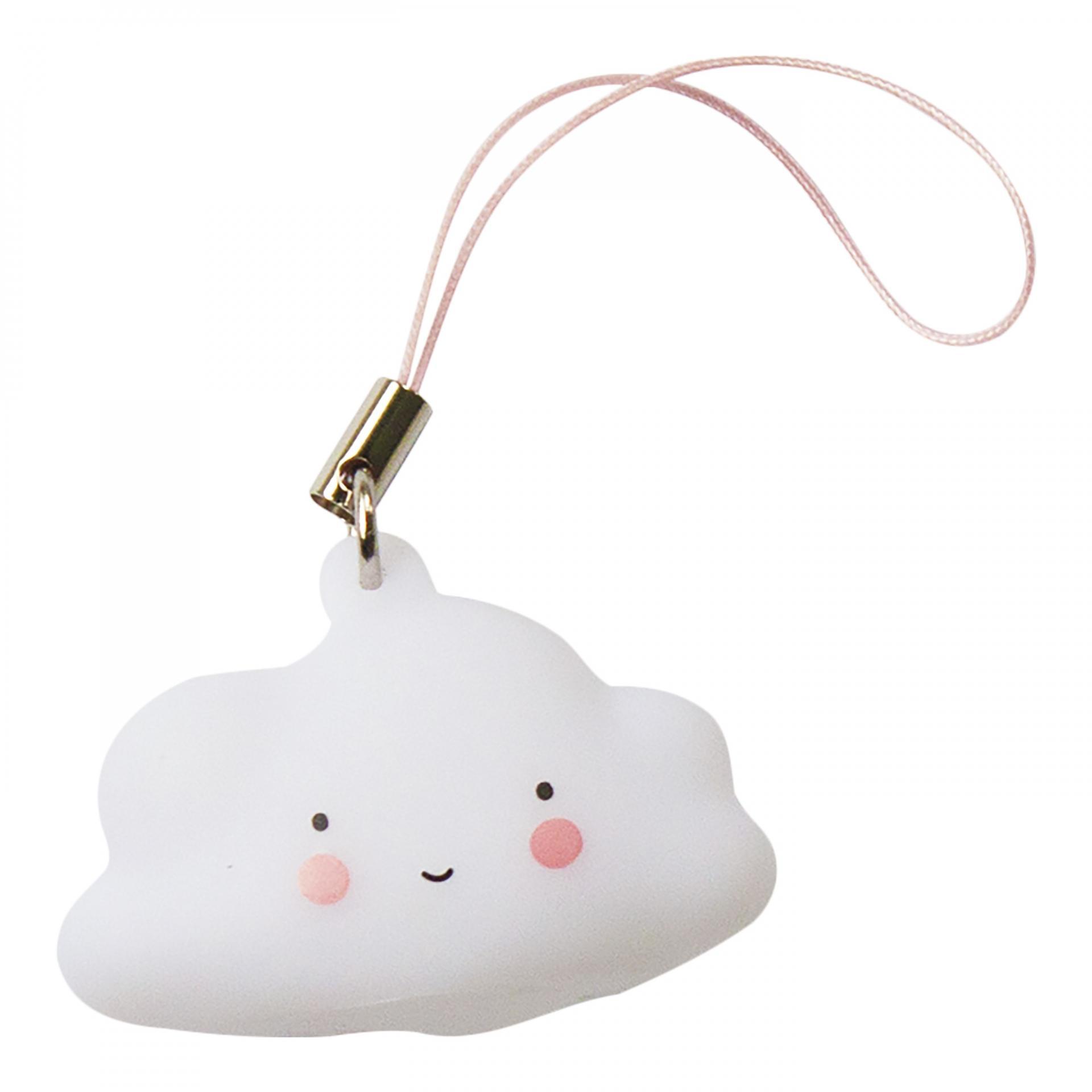 A Little Lovely Company Přívěsek na klíče Cloud, bílá barva, plast
