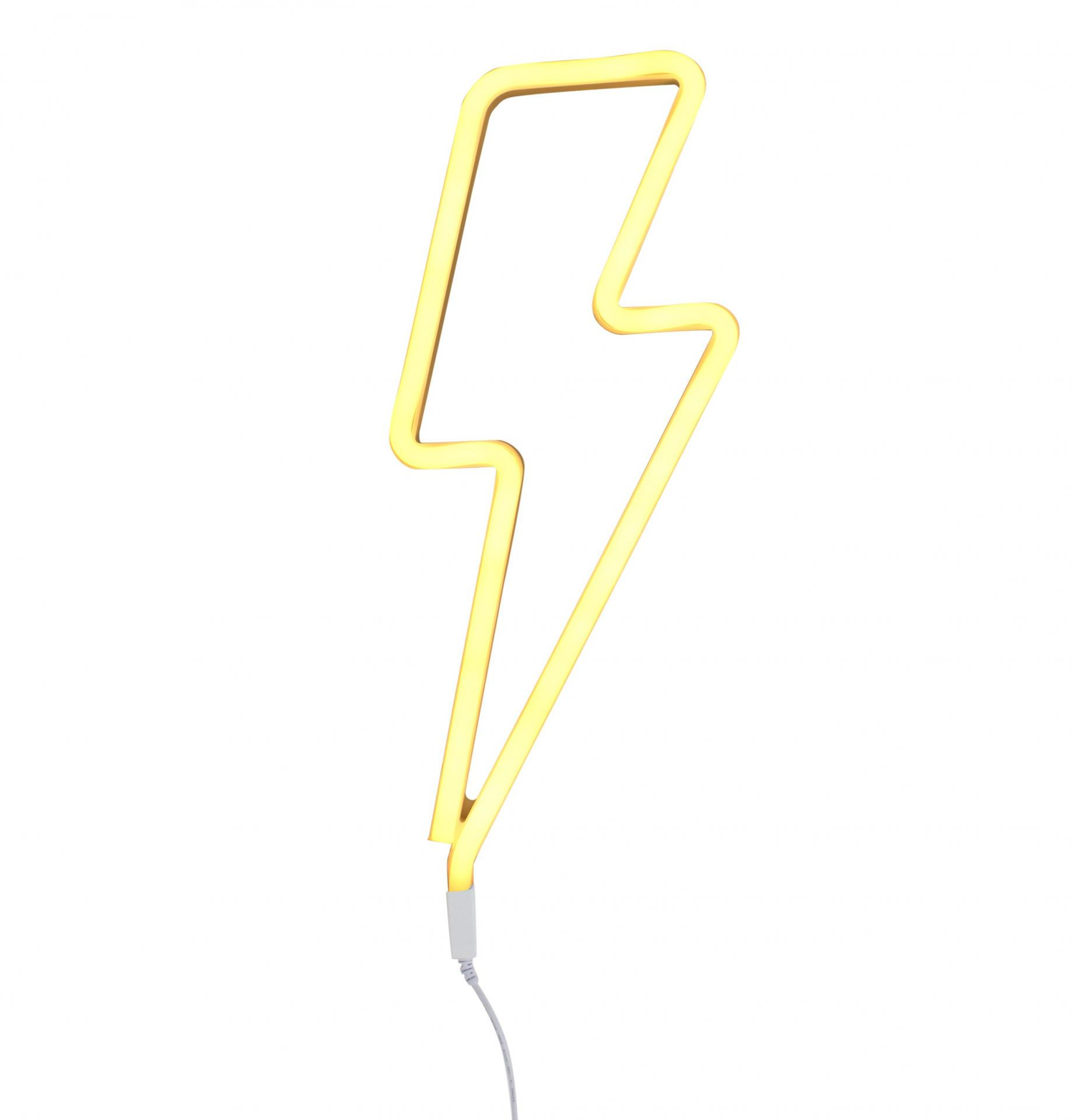 A Little Lovely company Neonové LED světlo Lightning bolt Yellow