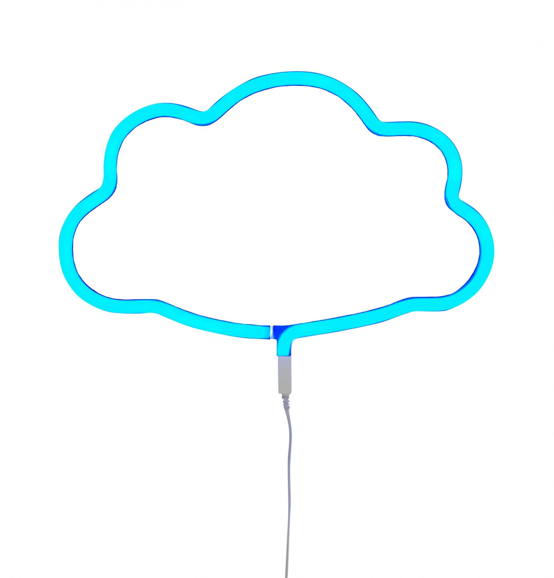 A Little Lovely company Neonové LED světlo Cloud Blue