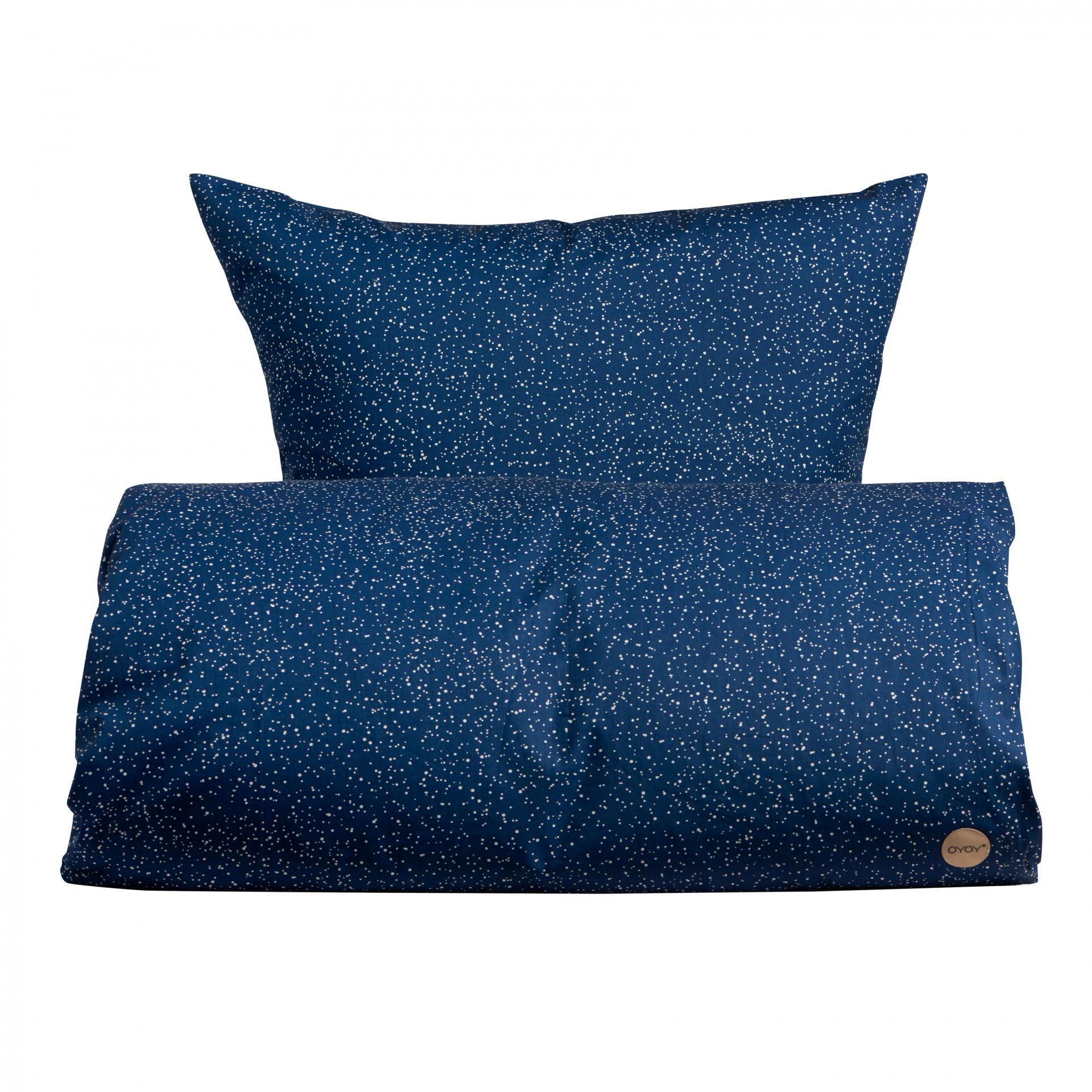 OYOY Povlečení pro miminka Starry Blue 70x100 cm, modrá barva, textil