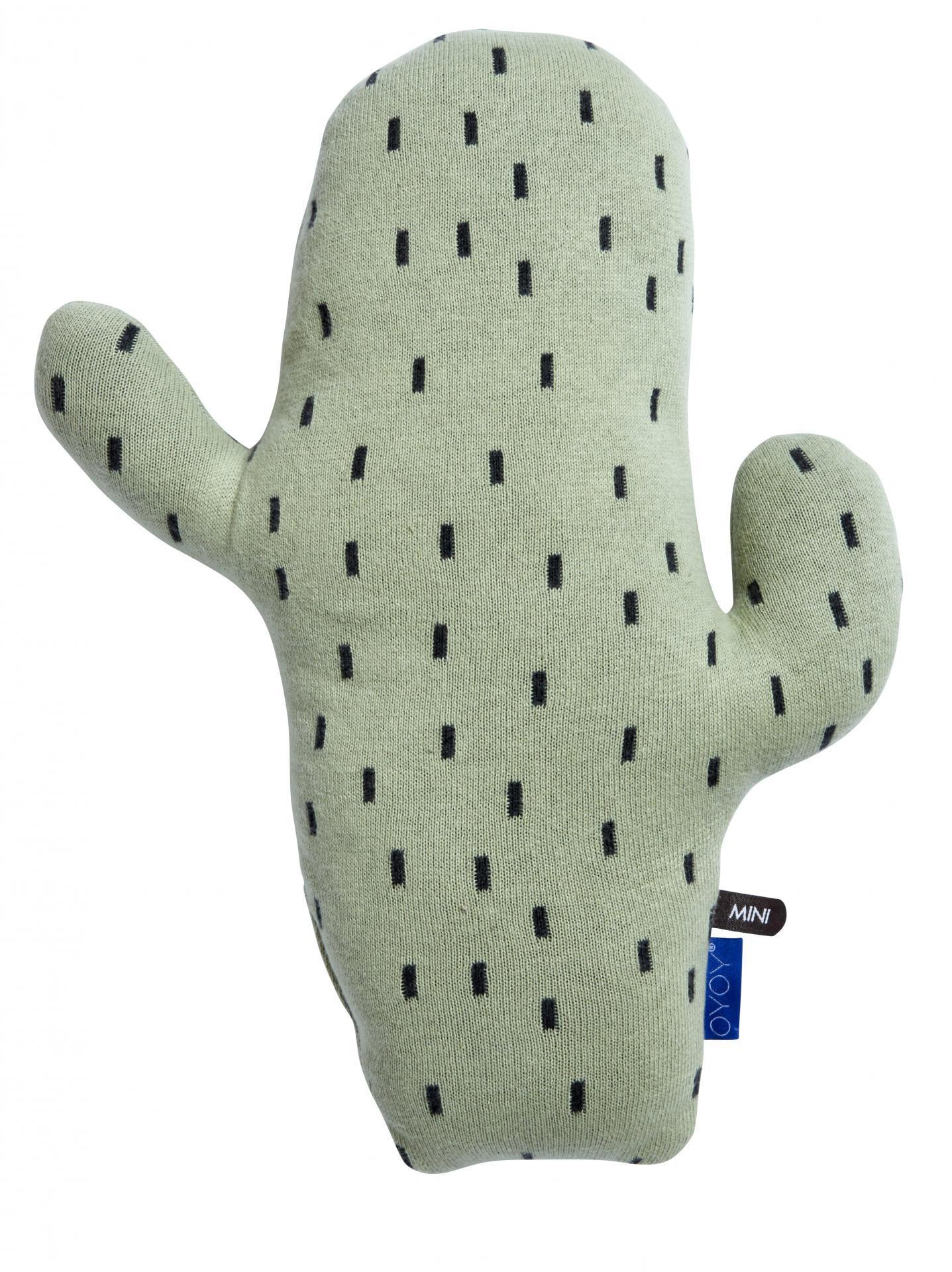 OYOY Dětský polštářek Cactus Pale mint, zelená barva, textil