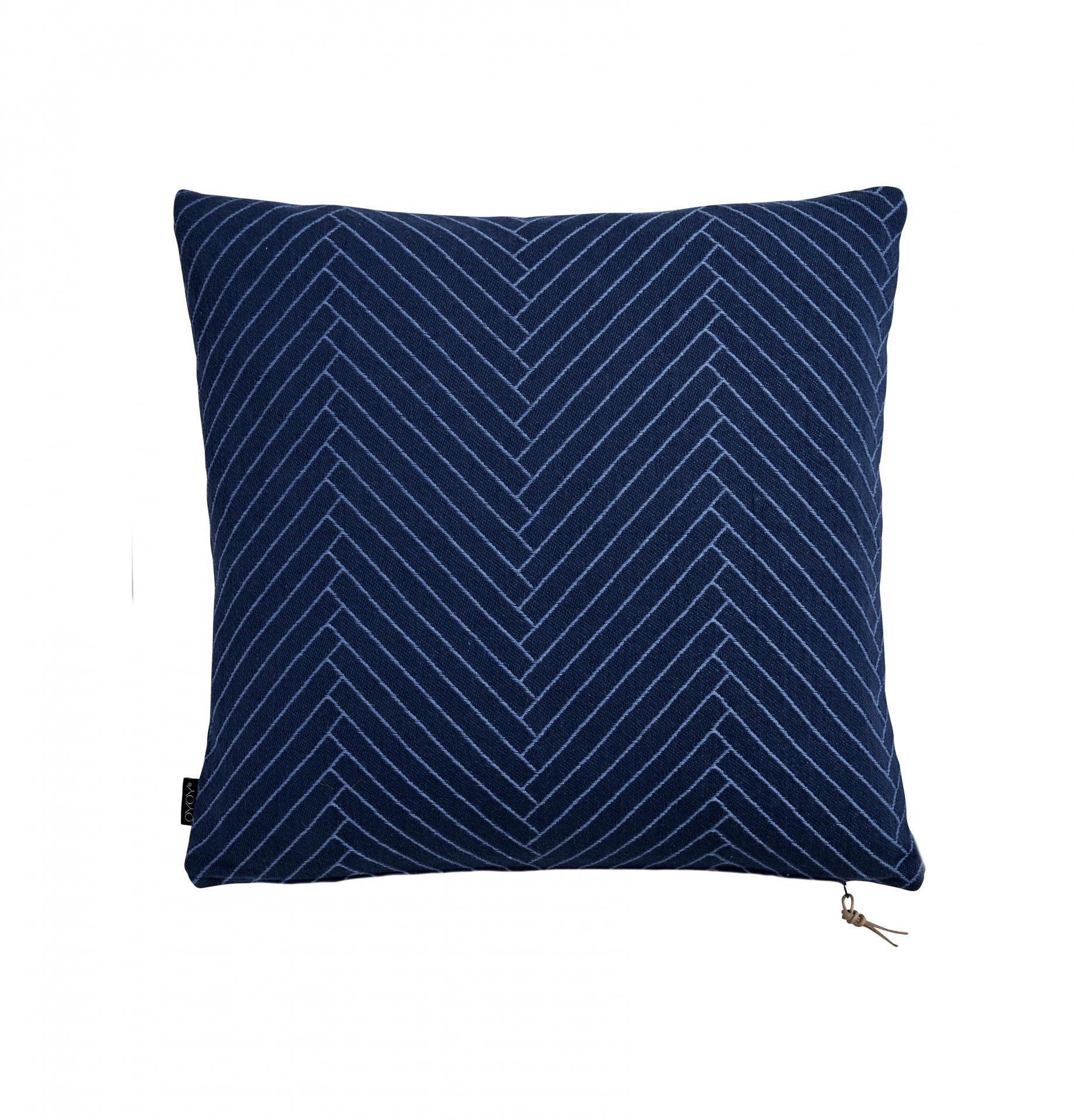f49937e8992a OYOY Polštář Herringbone Dark blue 50x50 cm