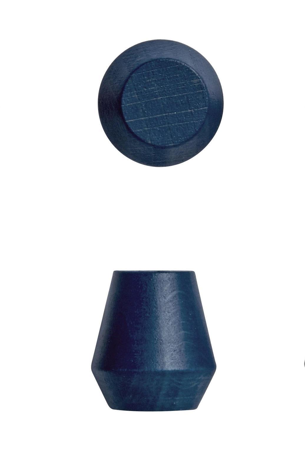 OYOY Dřevěný háček Saki Dark blue - 2 ks, modrá barva, dřevo