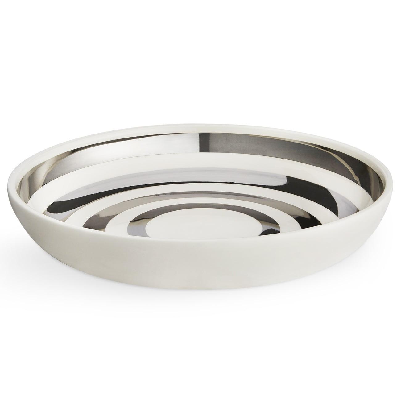 KÄHLER Keramická mísa Omaggio Silver - limitovaná edice, stříbrná barva, krémová barva, keramika