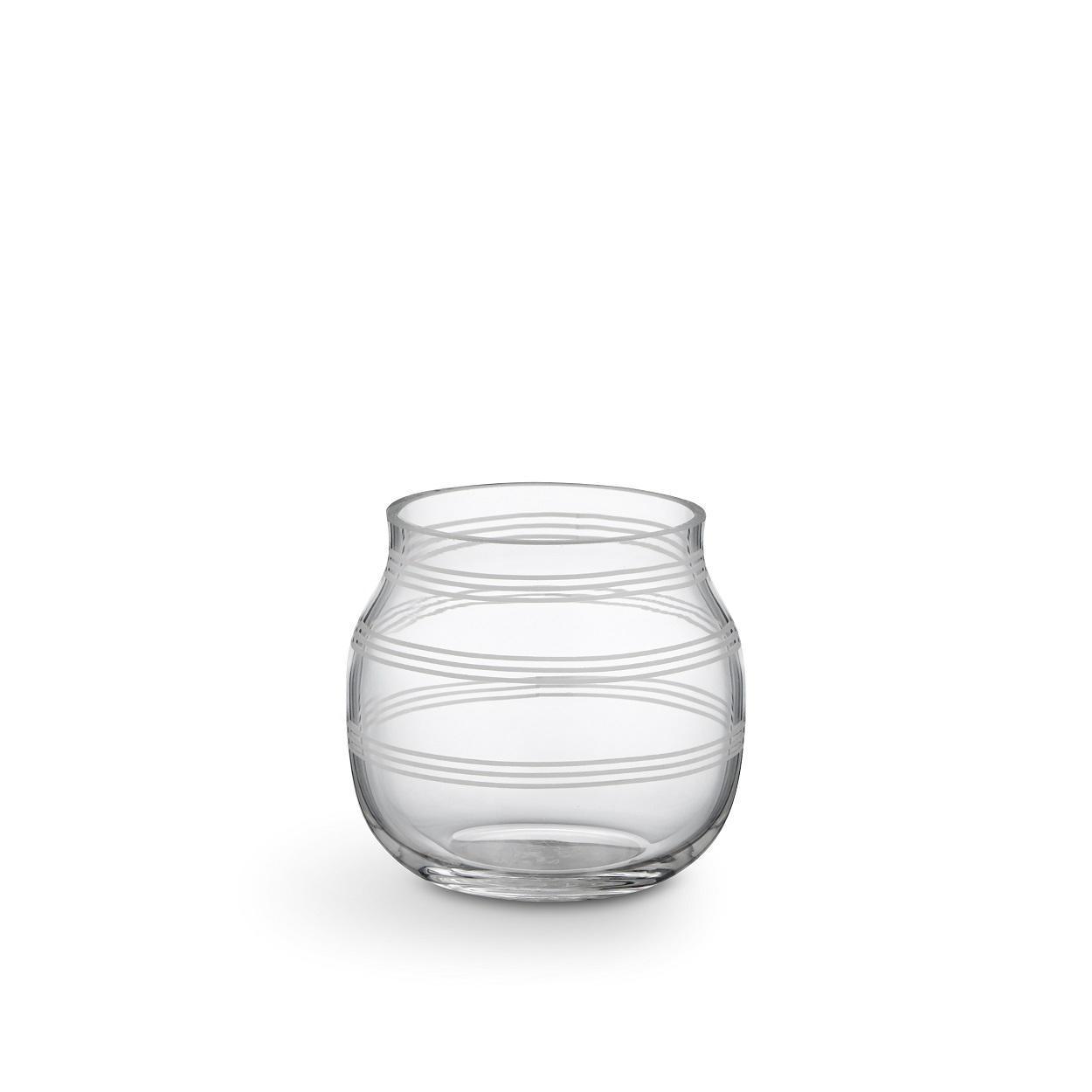 KÄHLER Skleněný svícen / váza Omaggio Transparent 7,5 cm, čirá barva, sklo