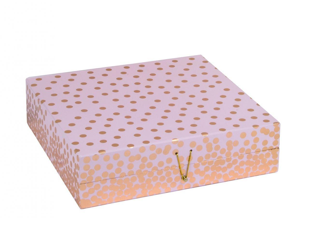 Tri-Coastal Design Papírová šperkovnice Copper Dot