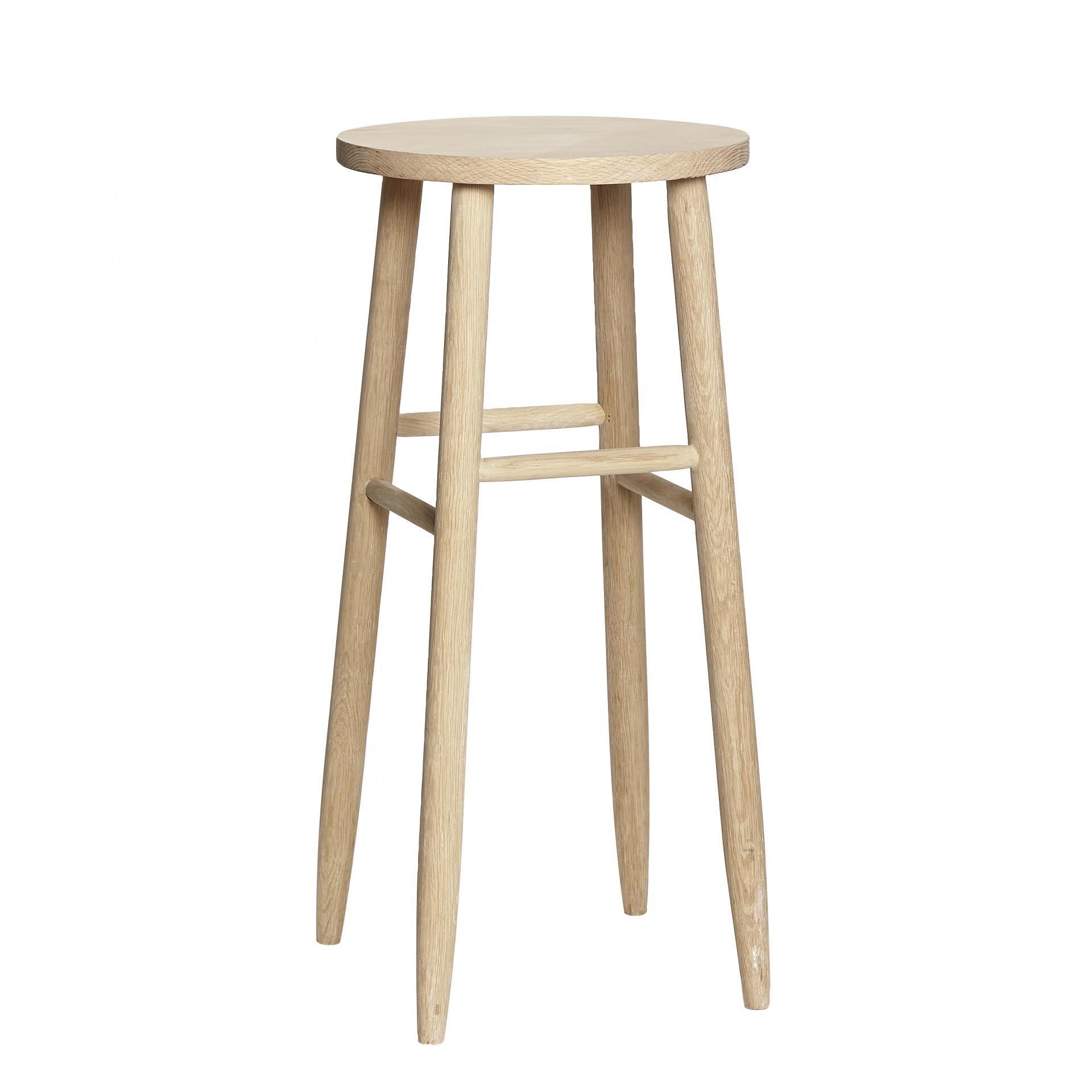 Hübsch Dubová barová stolička Nature