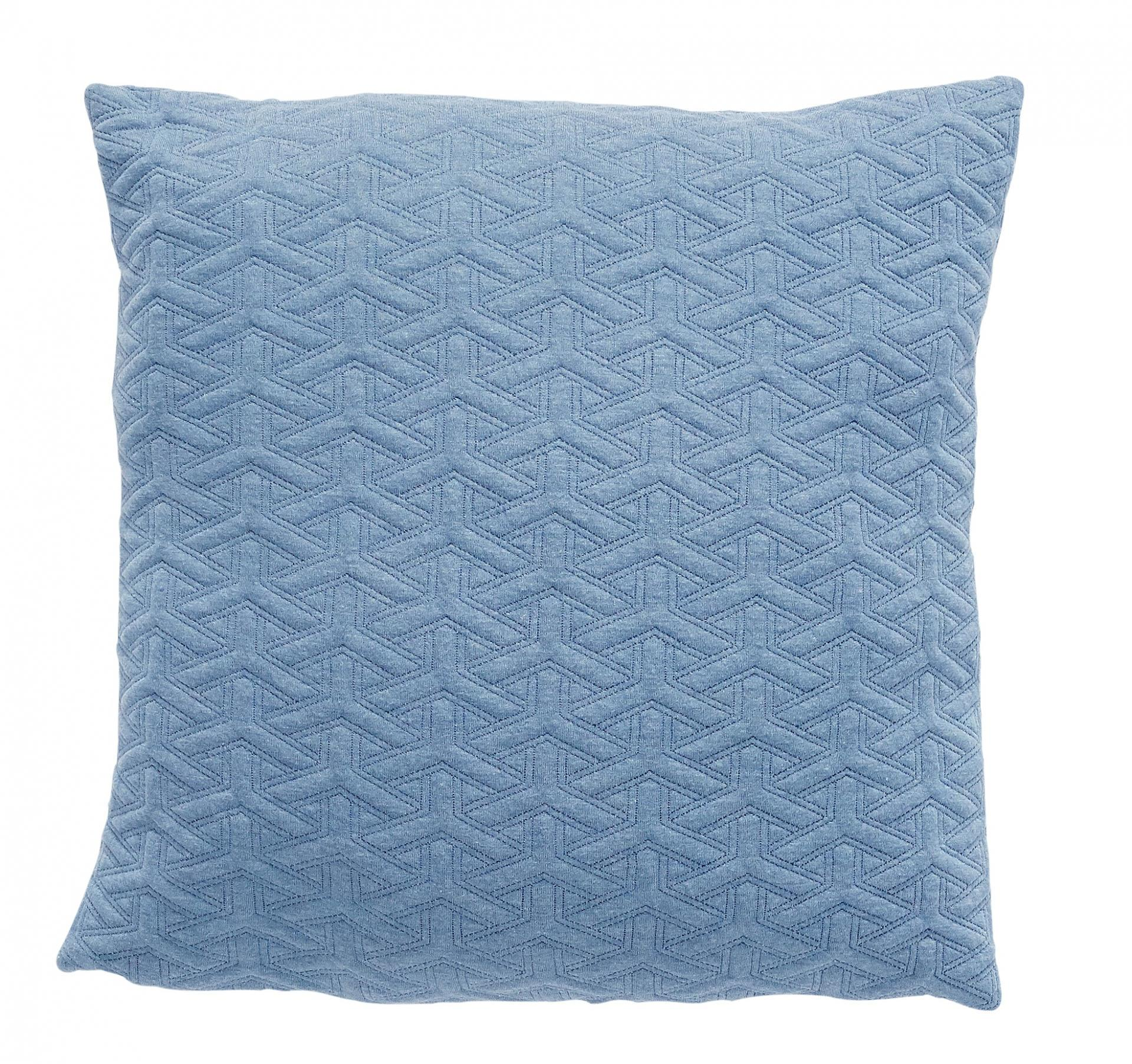 Hübsch Polštář Clear blue 50x50, modrá barva, textil