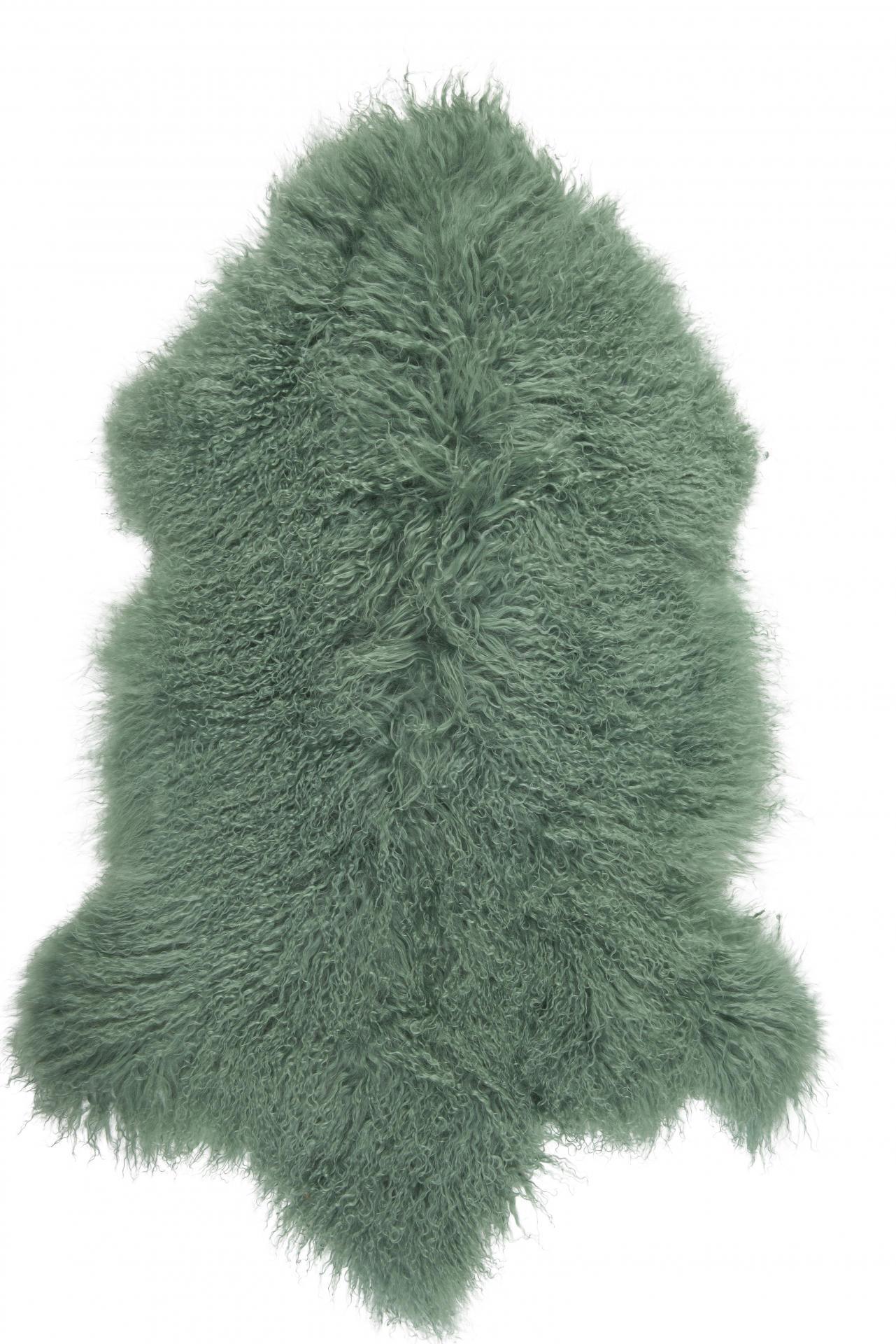 IB LAURSEN Tibetská ovčí kožešina Green, zelená barva, kůže