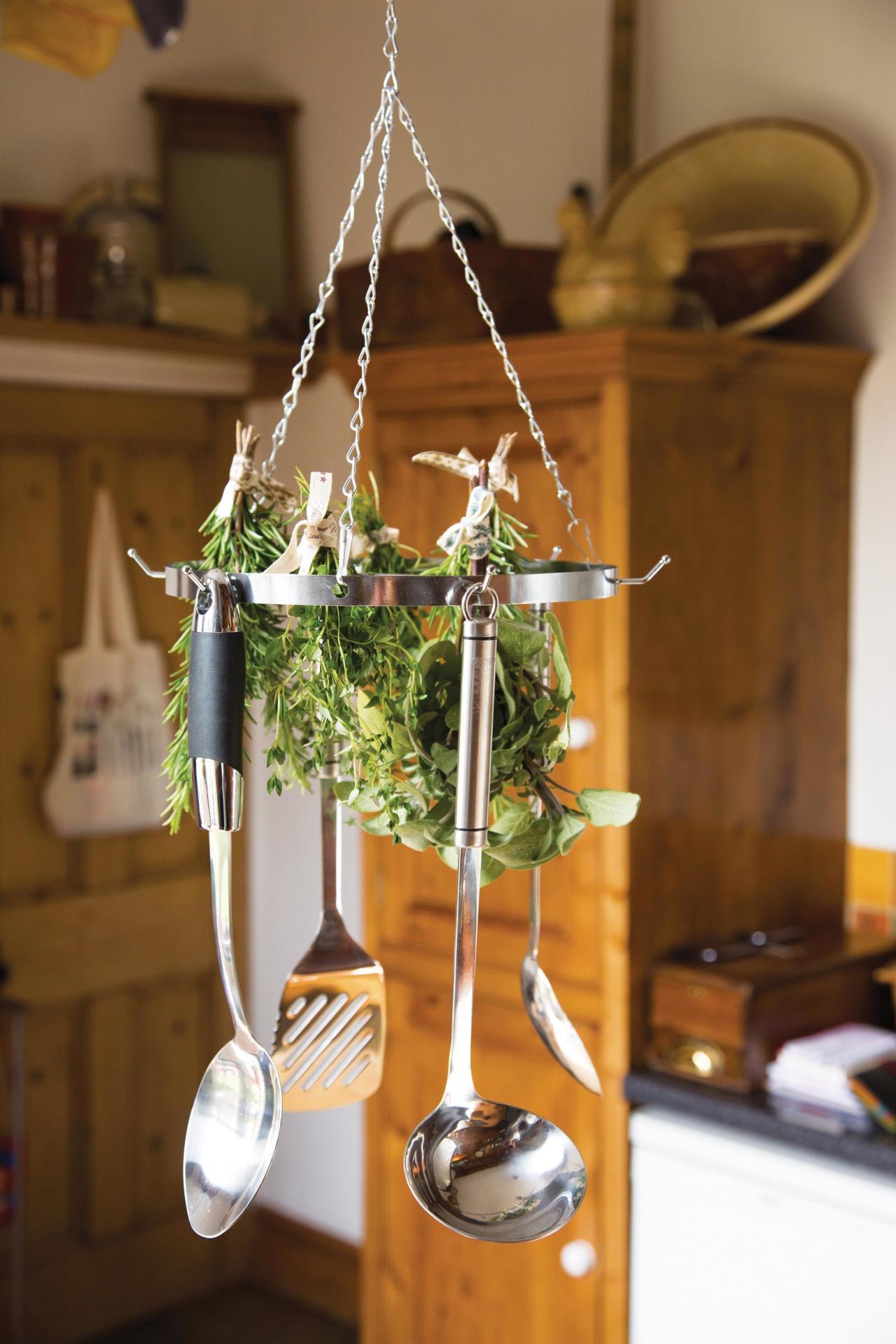 Kitchen Craft Kuchyňský věšák na náčiní/bylinky Chrome, stříbrná barva, kov