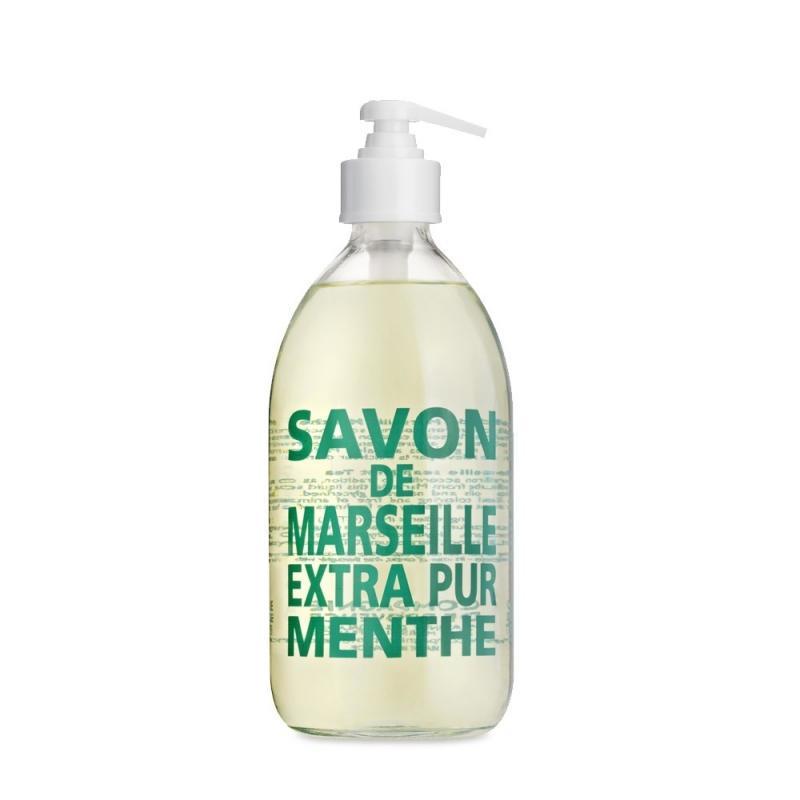 COMPAGNIE DE PROVENCE Tekuté mýdlo Máta 500ml, zelená barva, sklo
