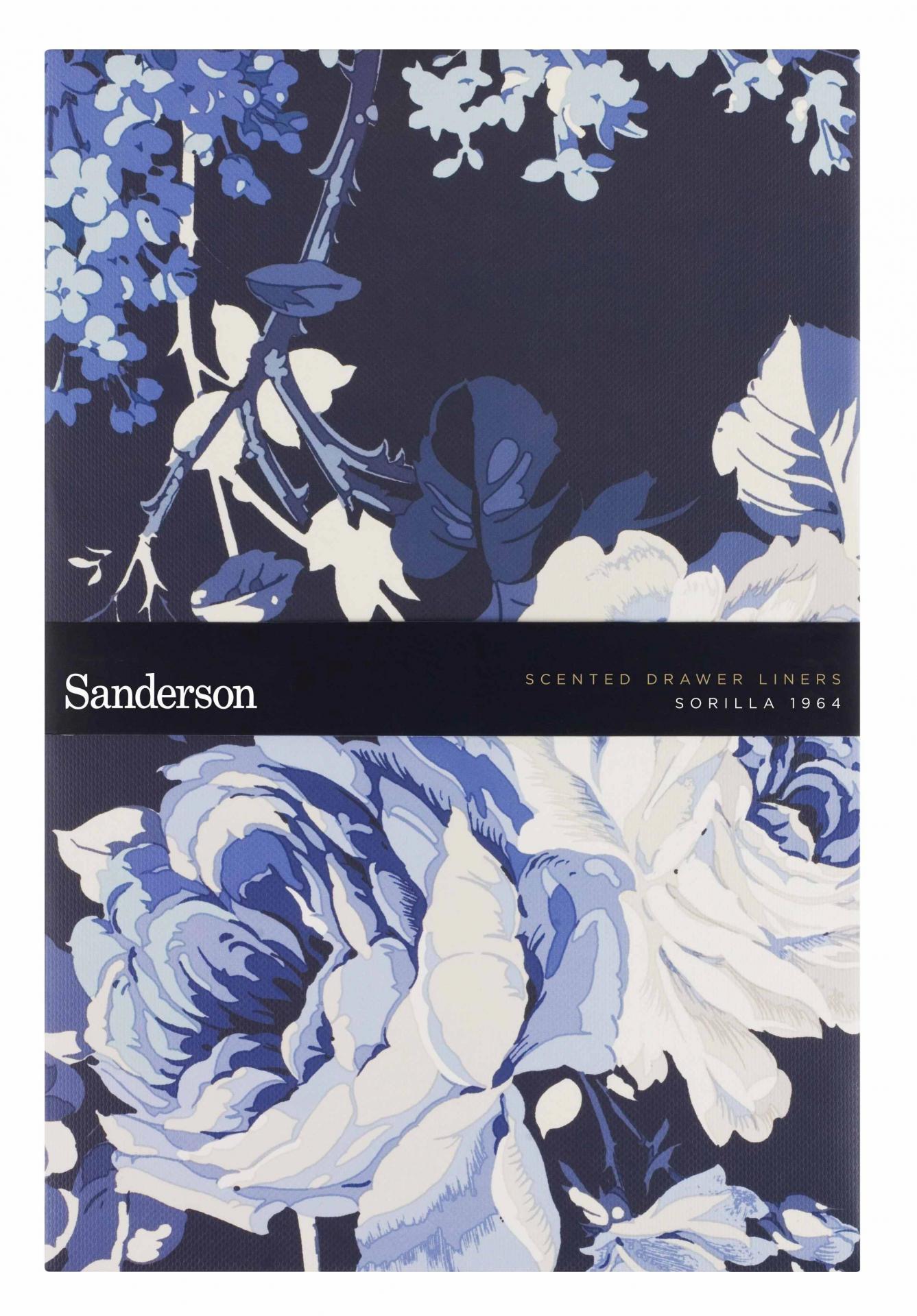 Sanderson Vonné papíry do zásuvky/skříně Sorilla 1964 - 5 ks, modrá barva, papír