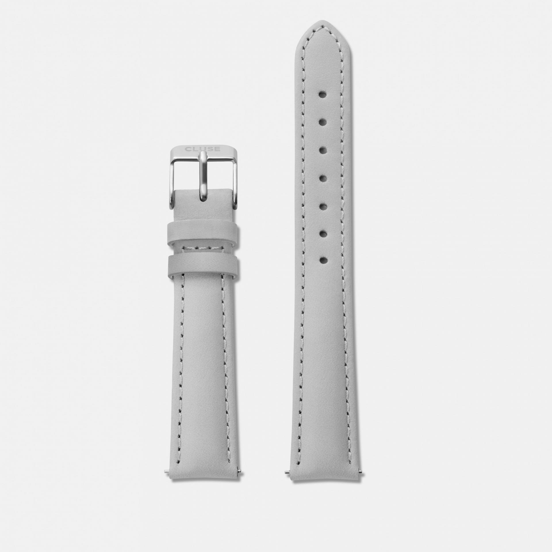 CLUSE Kožený pásek Minuit Grey/Silver