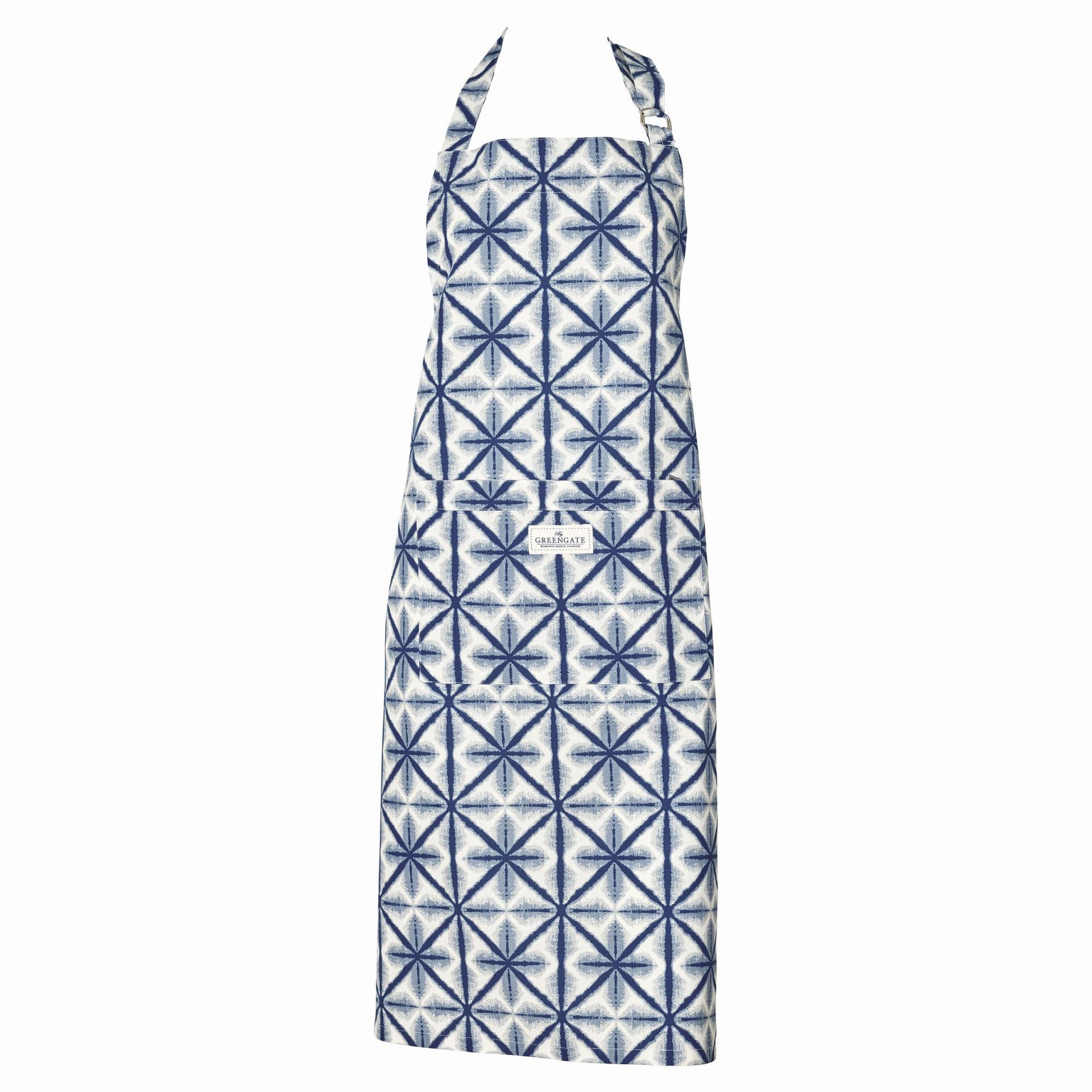 GREEN GATE Kuchyňská zástěra Lia blue, modrá barva, textil