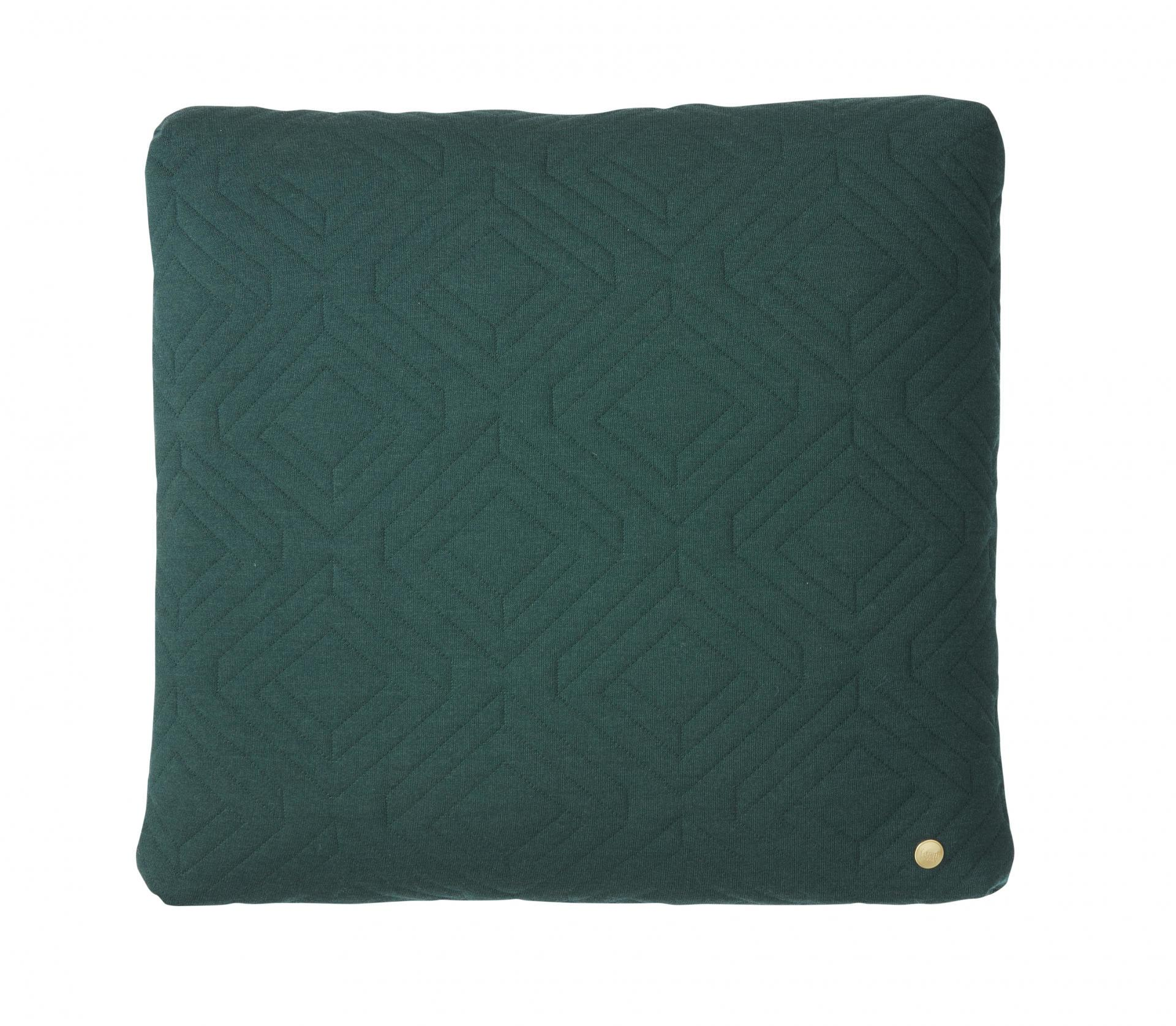 ferm LIVING Prošívaný polštář Dark green 45x45 cm