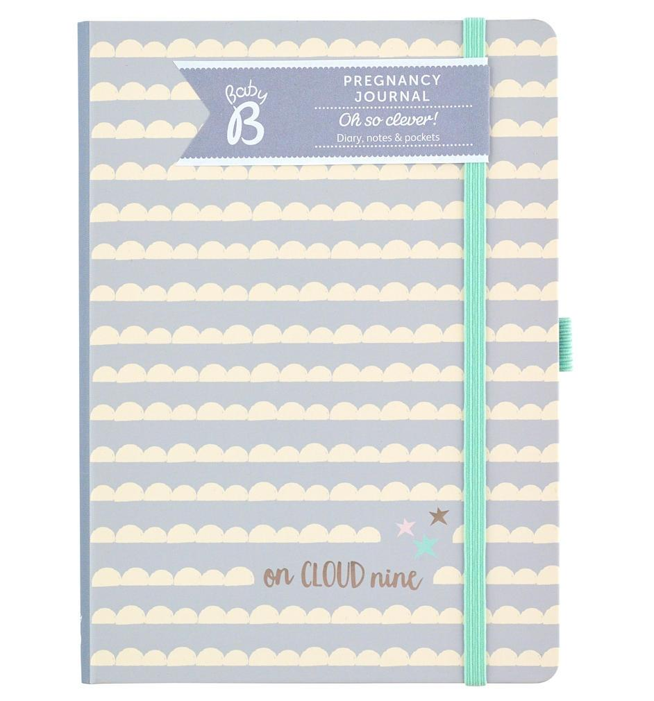 Busy B Těhotenský deník Baby B, šedá barva, papír