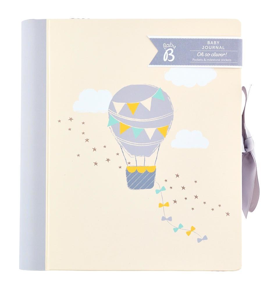 Busy B Deník miminka Baby B Neutral, šedá barva, krémová barva, papír