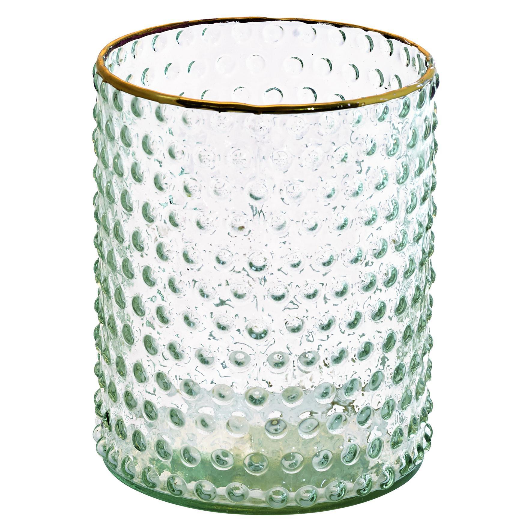 Green Gate Skleněná váza Gold