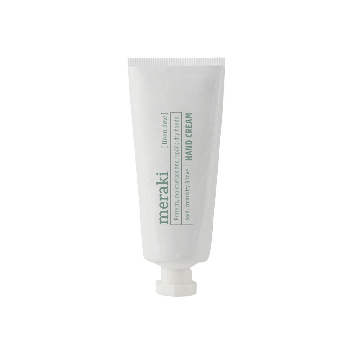 meraki Krém na ruce Linen dew 50 ml, bílá barva, plast