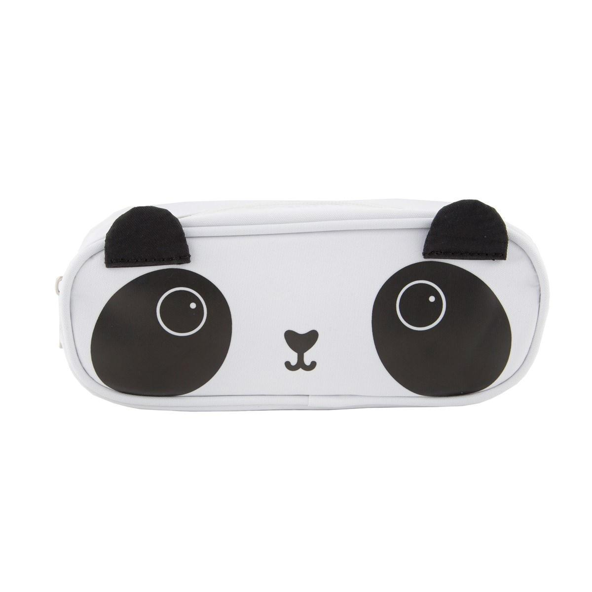 sass & belle Pouzdro na psací potřeby Panda, černá barva, bílá barva, textil