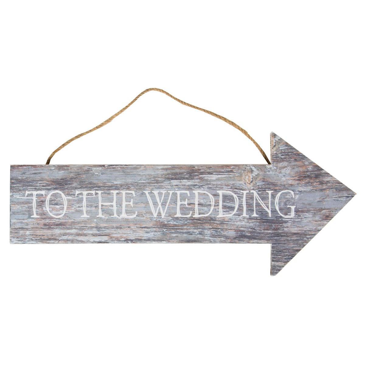 Sass & Belle Dřevěná cedule Wedding