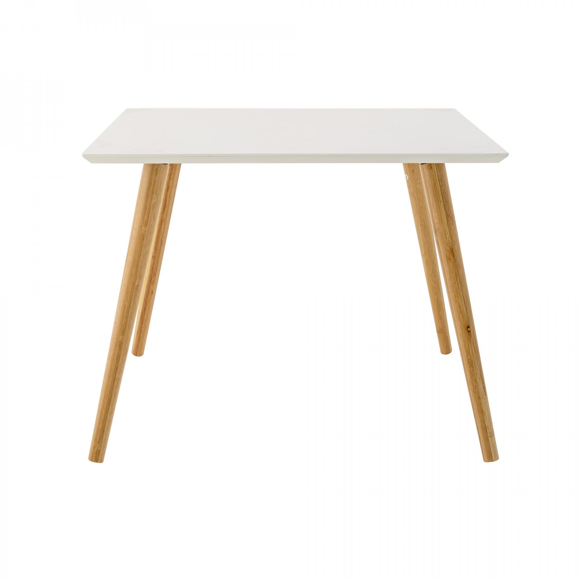 Bloomingville Bambusový konferenční stolek Susu, bílá barva, hnědá barva, dřevo