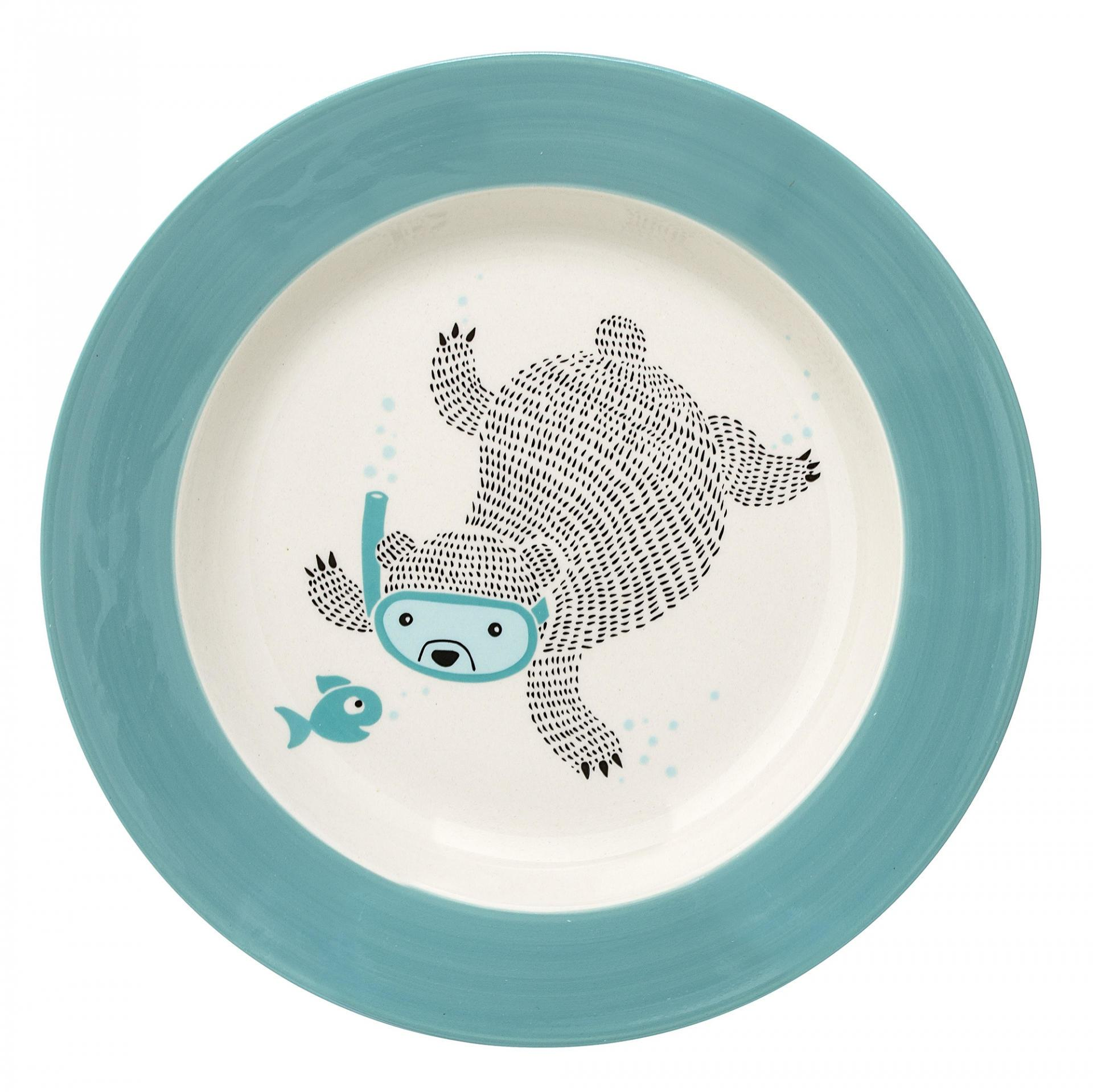 Bloomingville Keramický polévkový talíř Benjamin