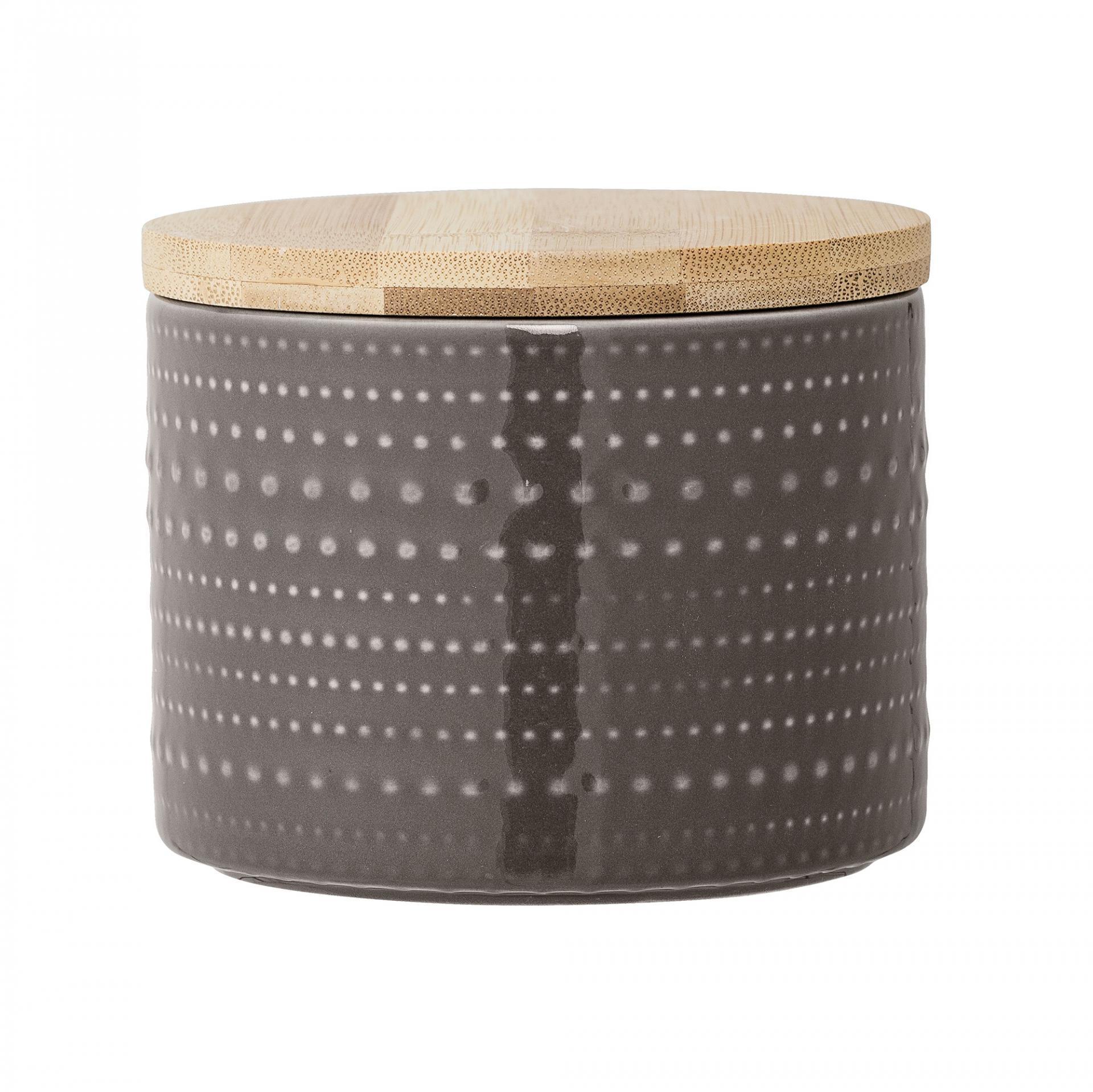 Bloomingville Porcelánová dóza Anna Brown - menší, hnědá barva, dřevo, porcelán