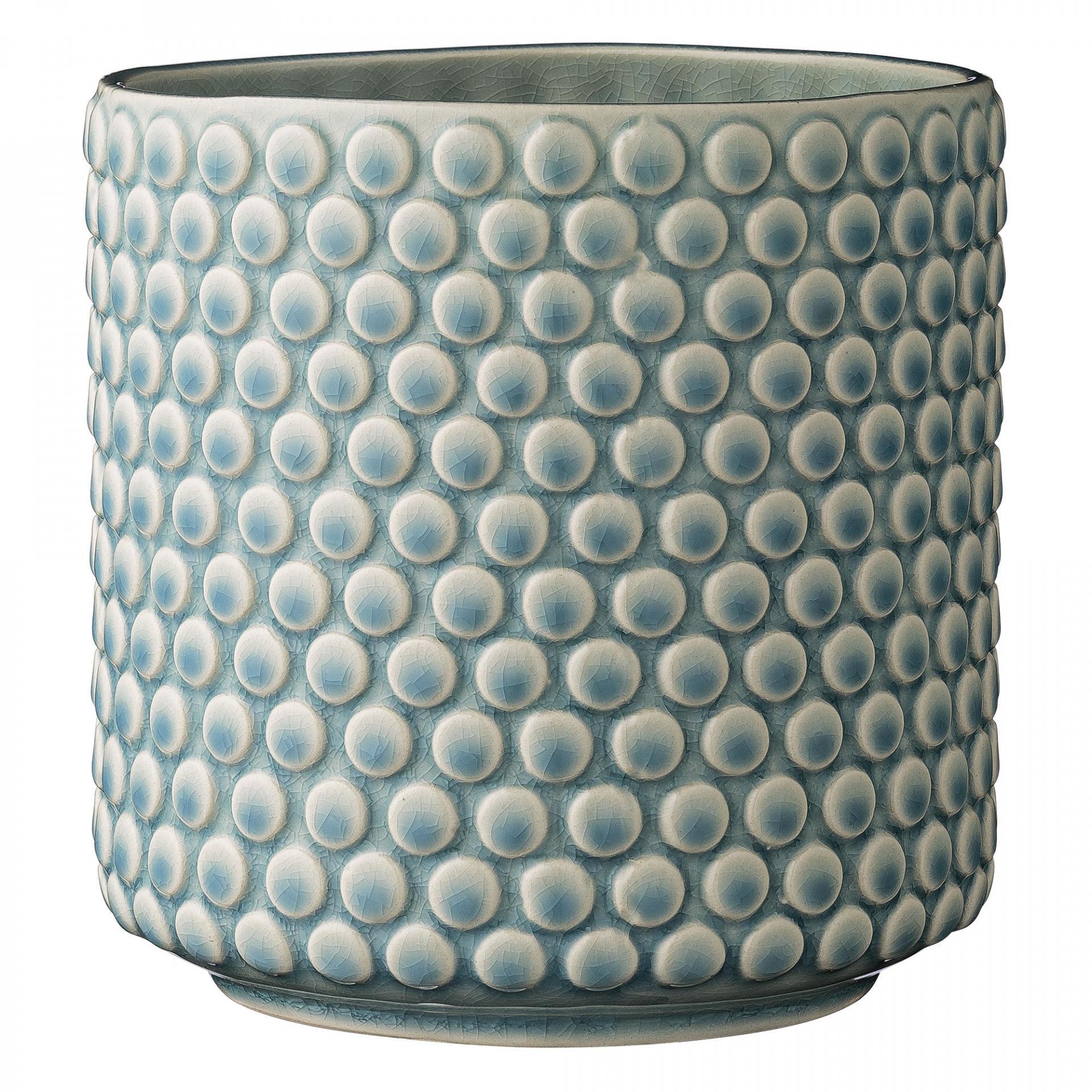 Bloomingville Keramický květník Bubble Blue, modrá barva, keramika