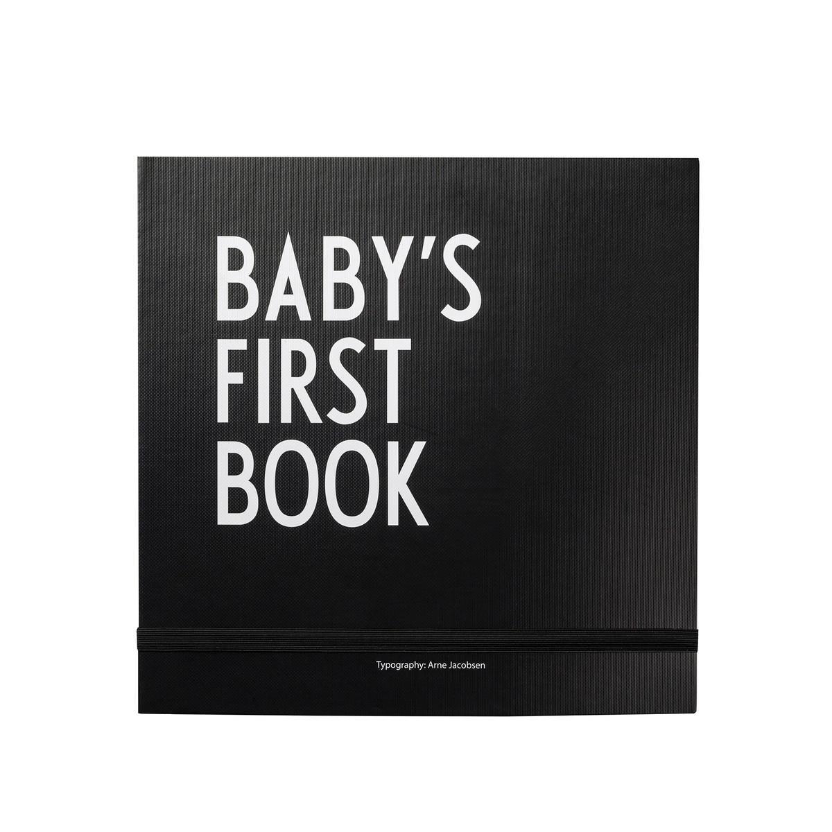 Design Letters Deník miminka Baby's First Book - Black, černá barva, bílá barva, papír