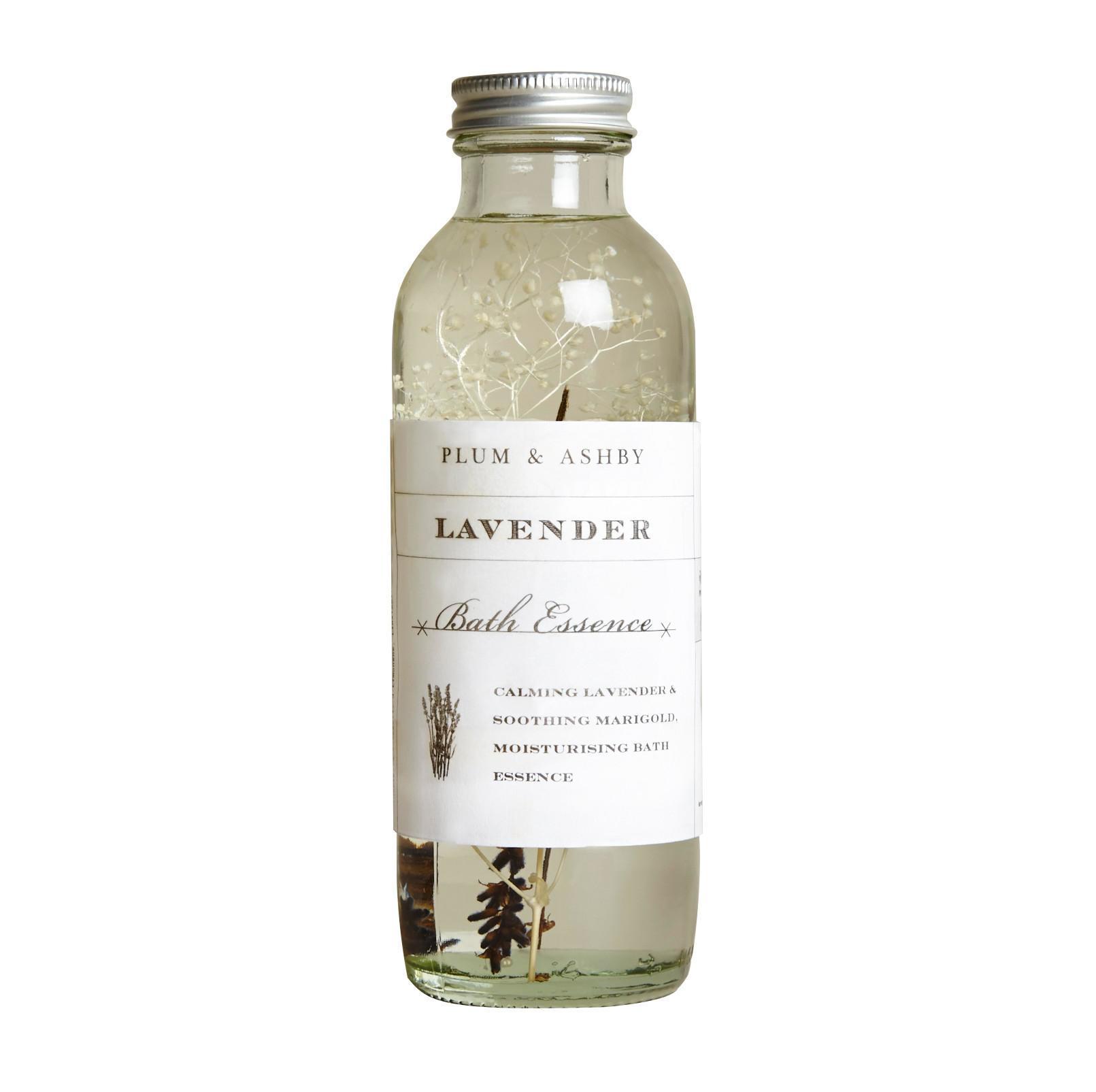 PLUM & ASHBY Koupelová esence Lavender, čirá barva, sklo