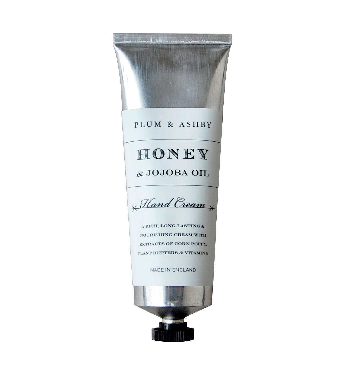 PLUM & ASHBY Krém na ruce Honey & Jojoba oil, stříbrná barva