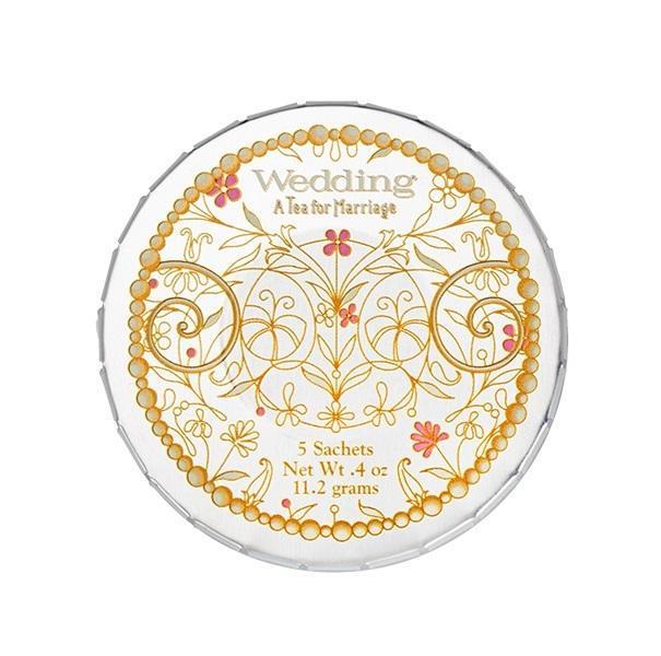 HARNEY & SONS Bílý čaj Wedding - 5 sáčků, stříbrná barva, kov