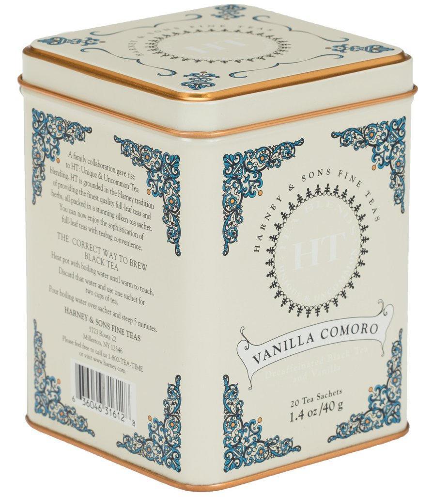 HARNEY & SONS Černý čaj Vanilla Comoro, krémová barva, kov