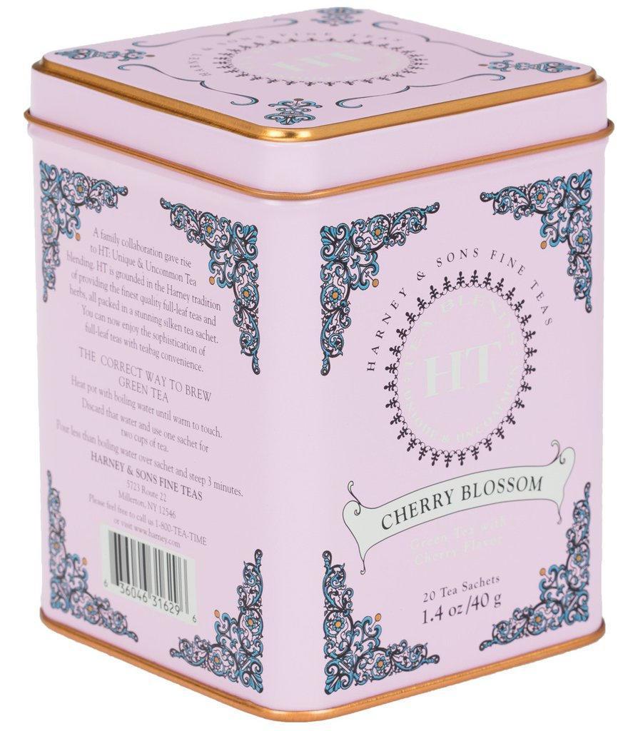 HARNEY & SONS Čaj Cherry Blossom, růžová barva, kov