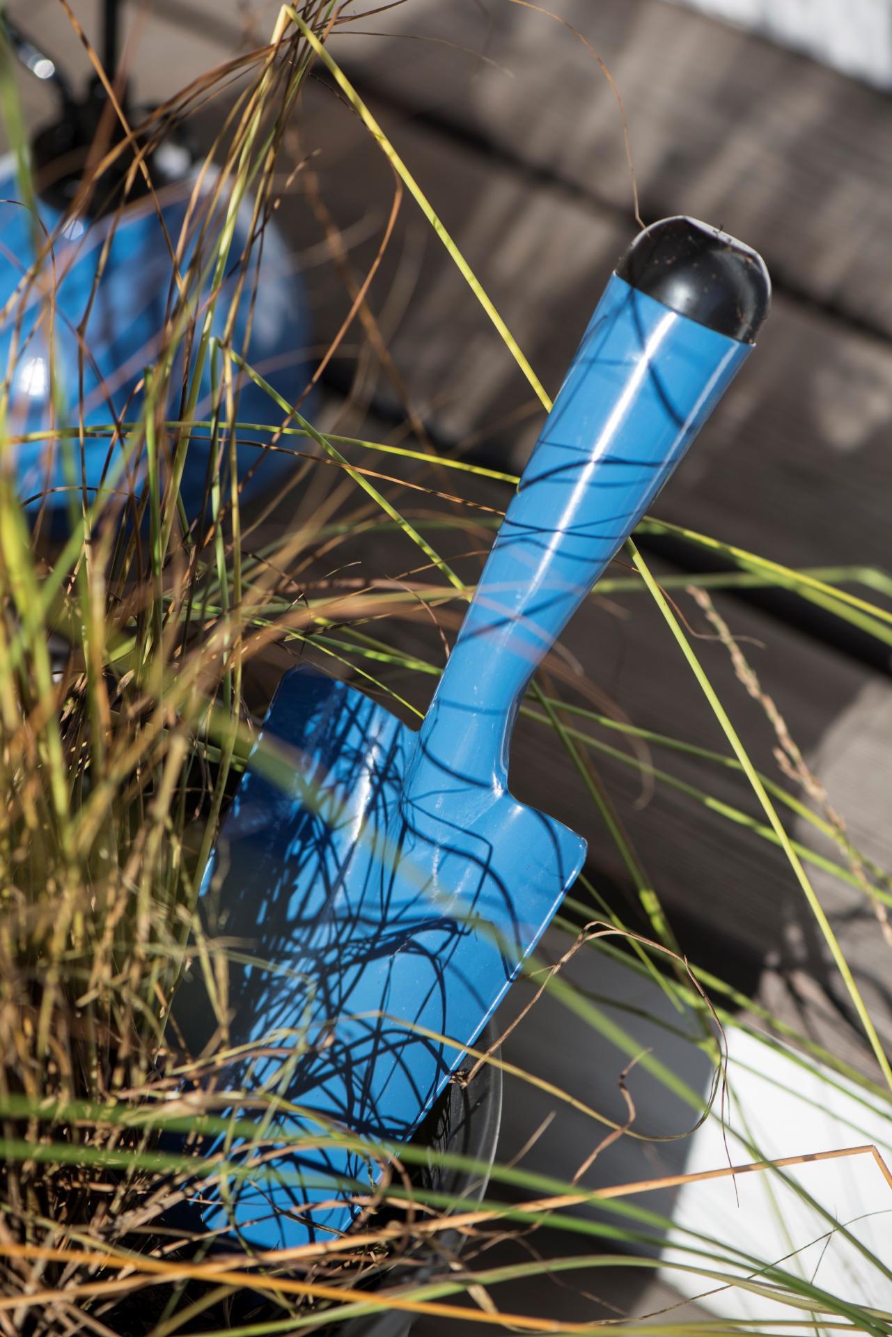IB LAURSEN Zahradní lopatka Blue, modrá barva, zinek