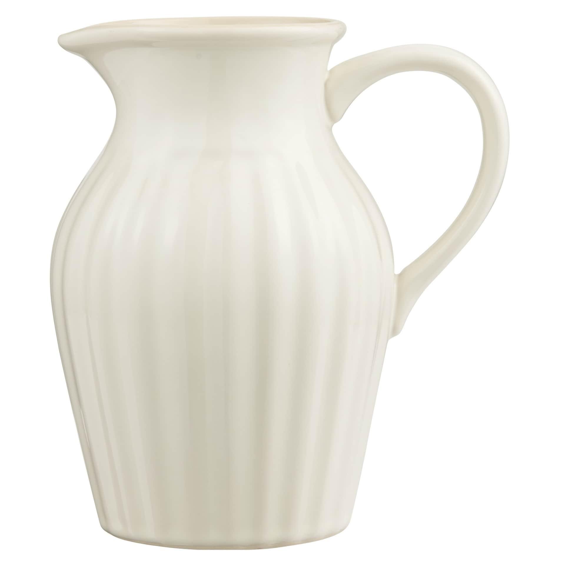 IB LAURSEN Džbán Mynte Butter Cream 1,7 l, krémová barva, keramika