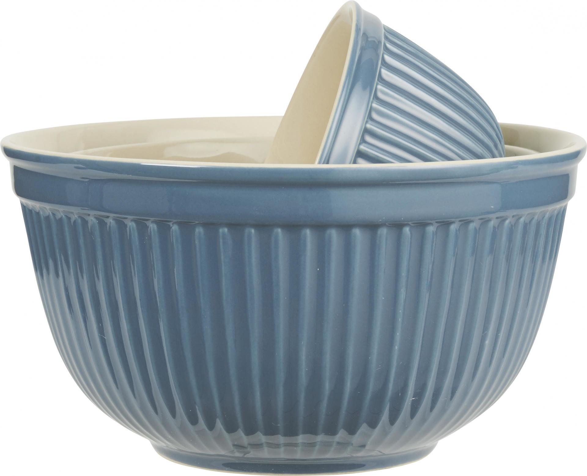 IB LAURSEN Keramická mísa Mynte Cornflower Velikost S, modrá barva, keramika