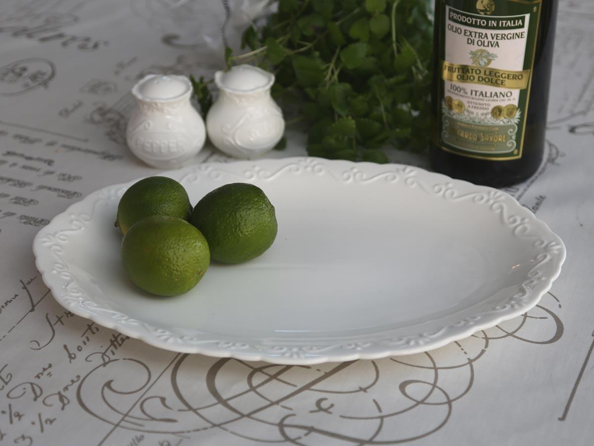 Chic Antique Servírovací talíř Provence, krémová barva, porcelán