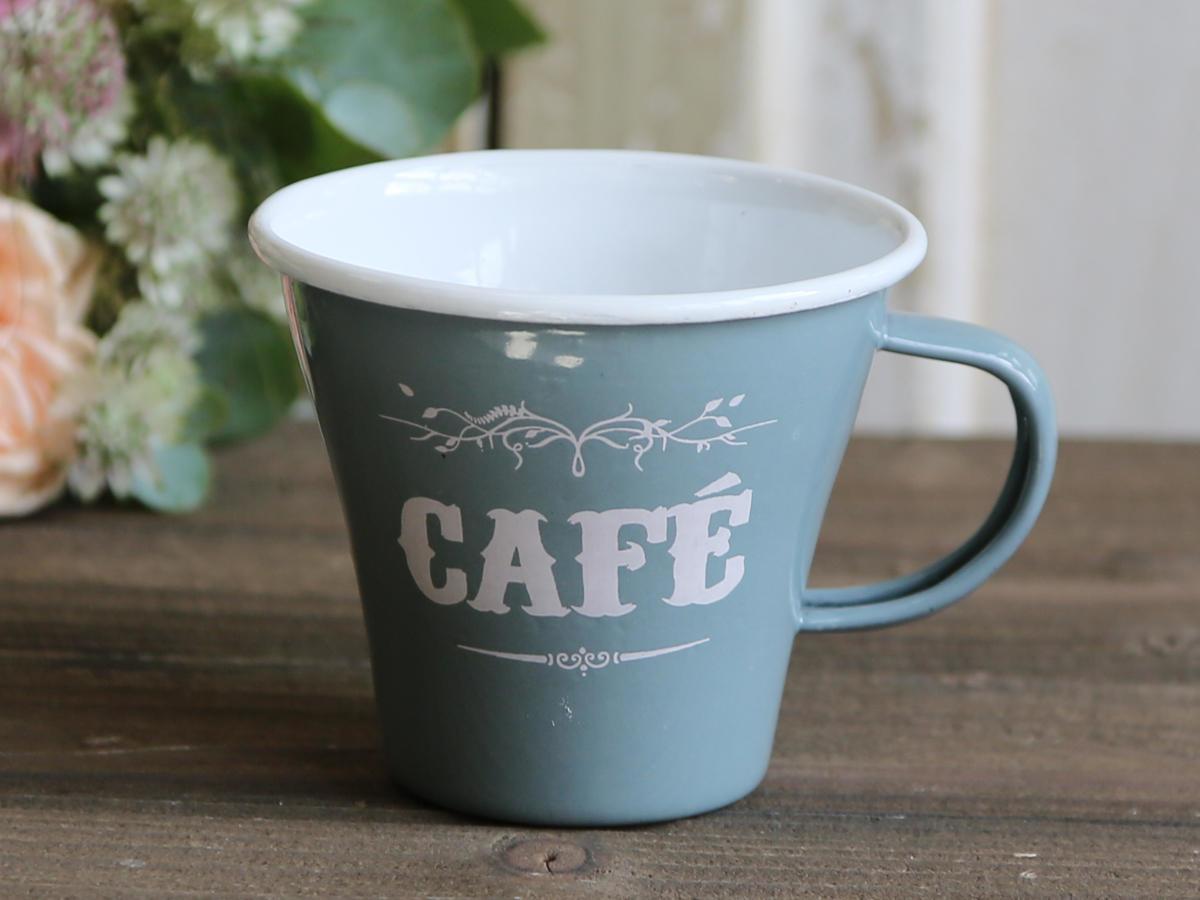 Chic Antique Smaltovaný hrneček Café grey